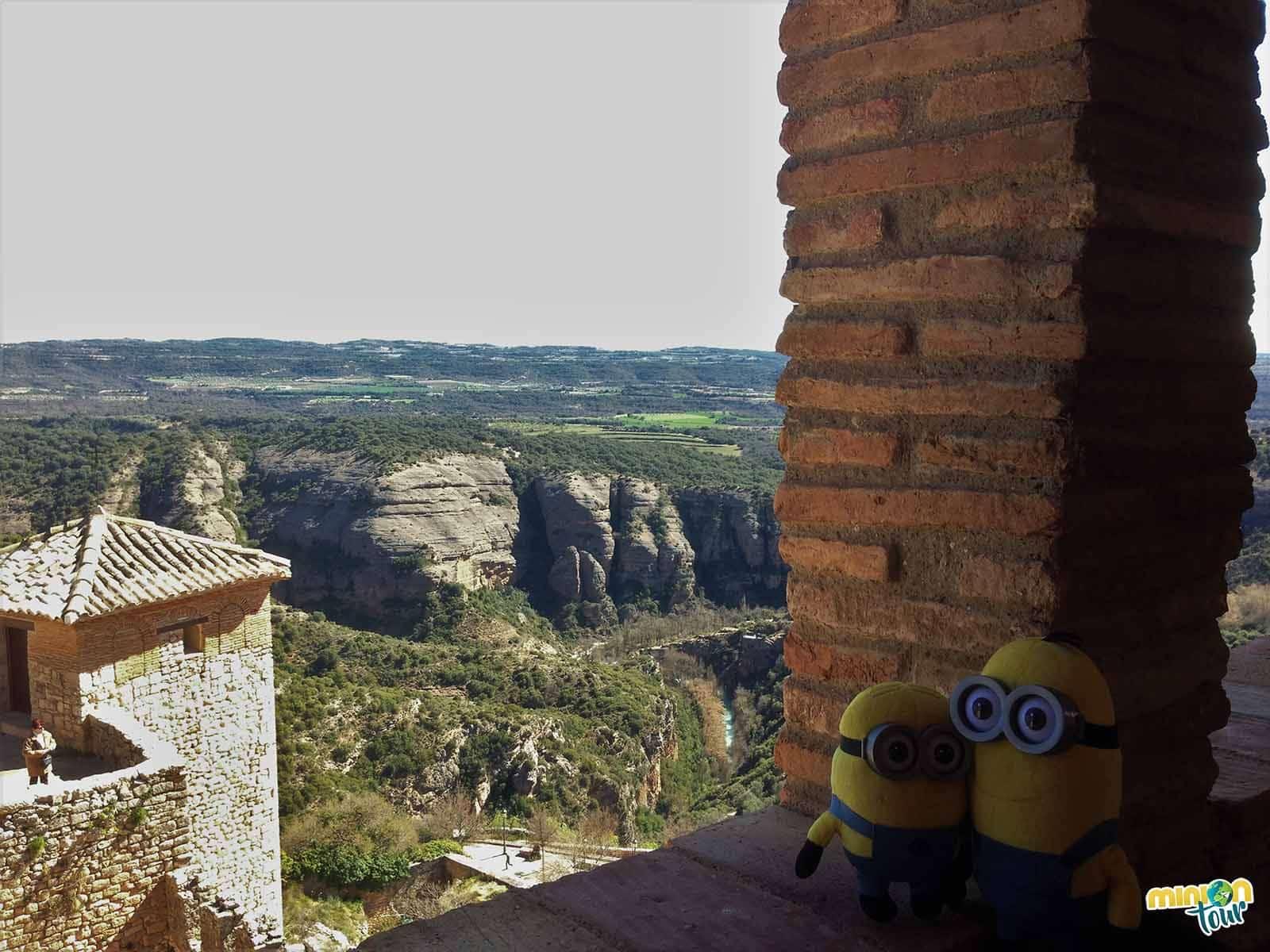 Vistas del río Vero desde lo alto del castillo-fortaleza de Alquézar