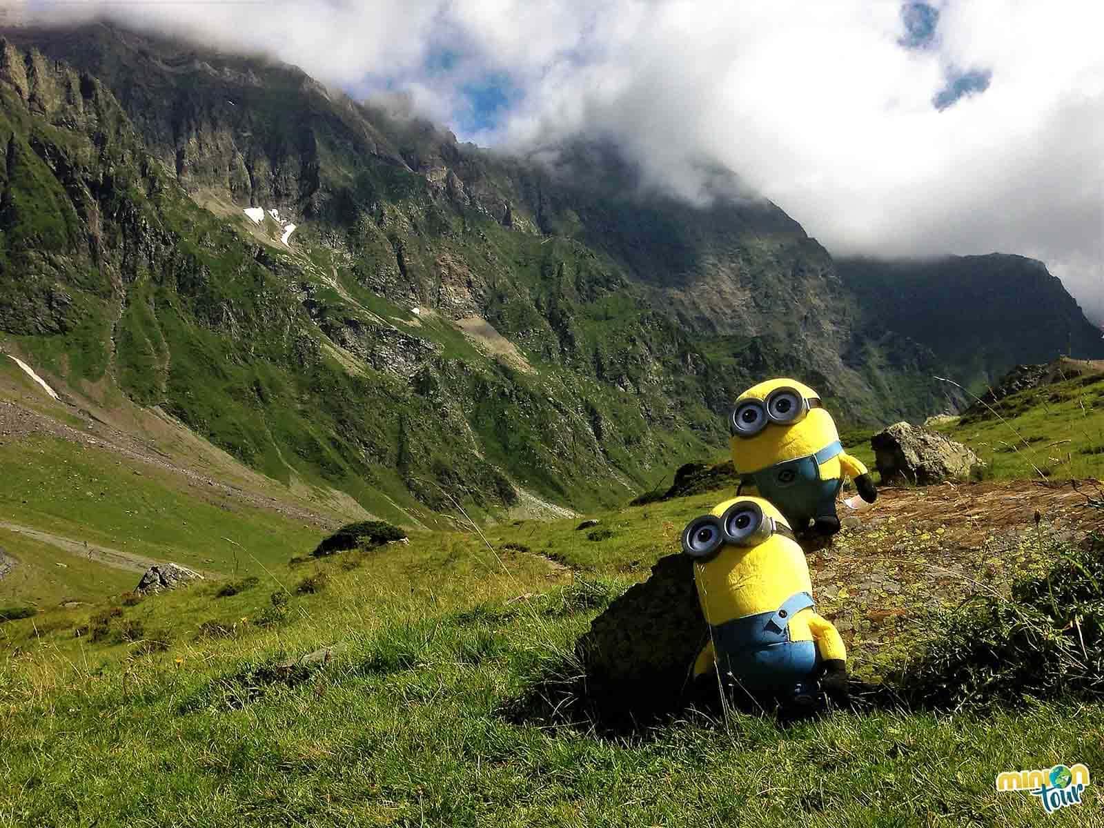 Vistas de las montañas en el valle de Badet
