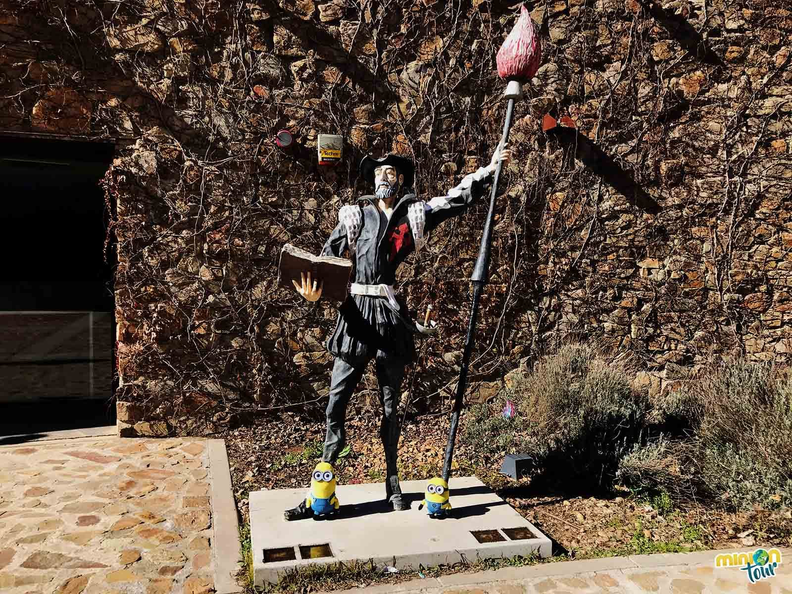 Con nuestro amigo Don Quijote