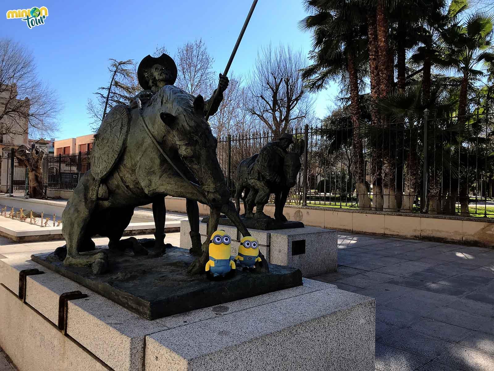 Con Don Quijote y Sancho Panza en Ciudad Real