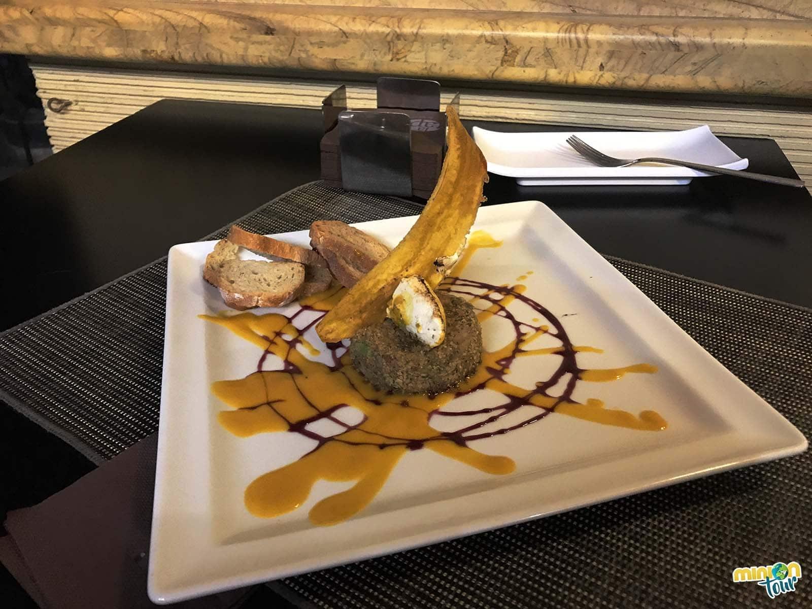 Un foie con banana
