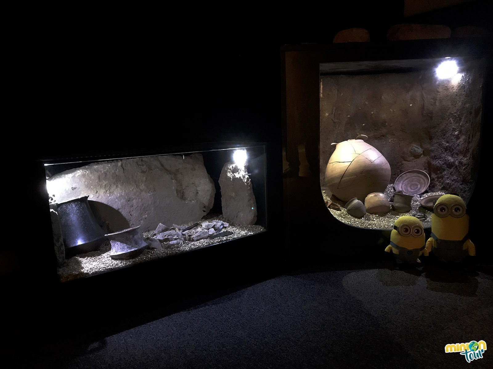 Minions en el Museo Arqueológico de Murcia
