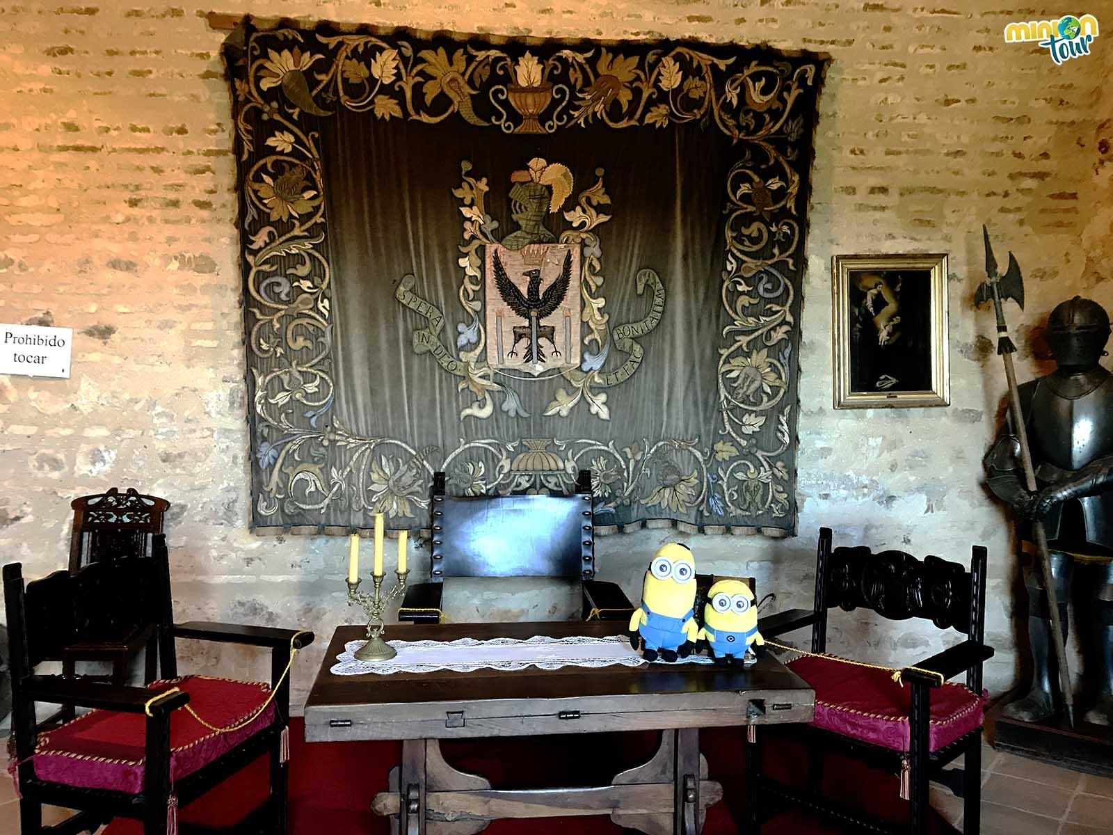 Una de las salas del castillo
