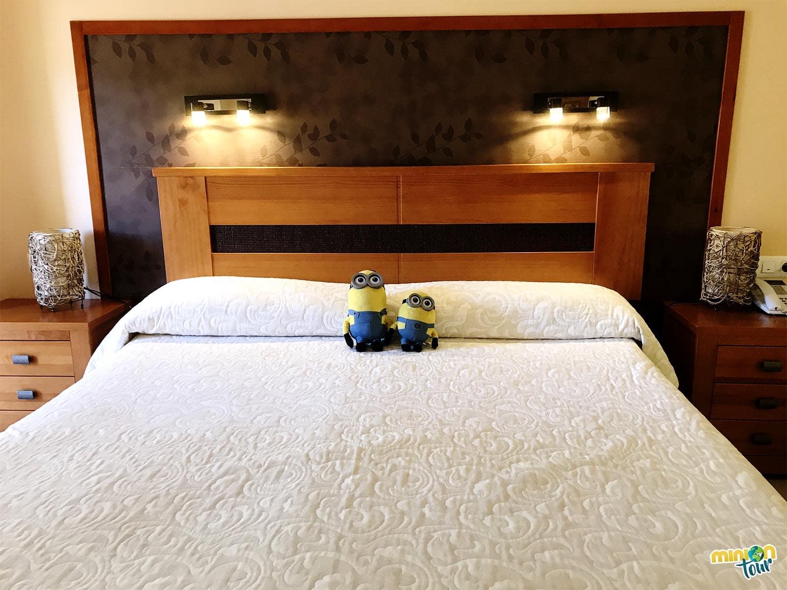 Nuestra cama en el hotel