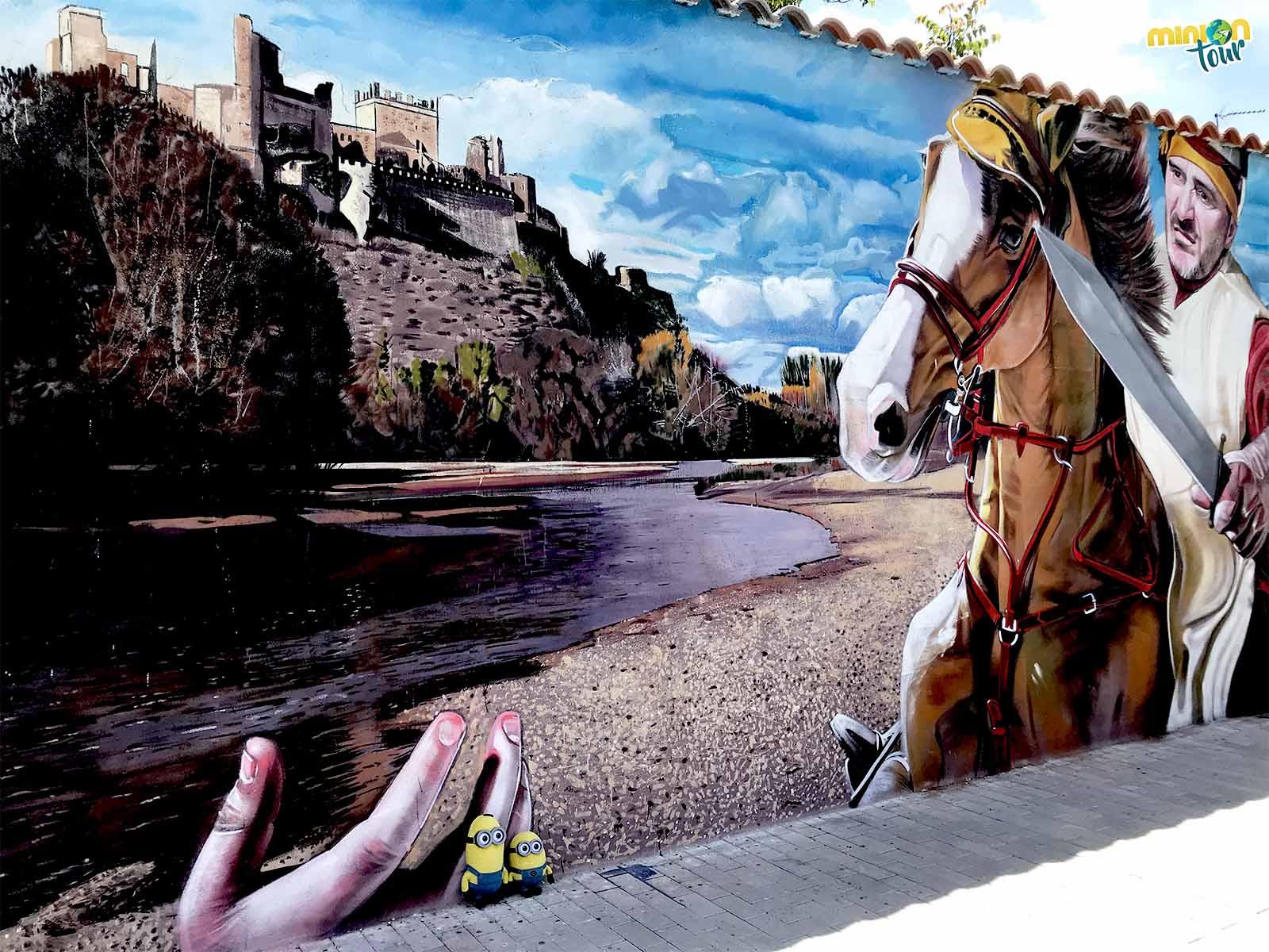 Mural de la batalla del río de Escalona