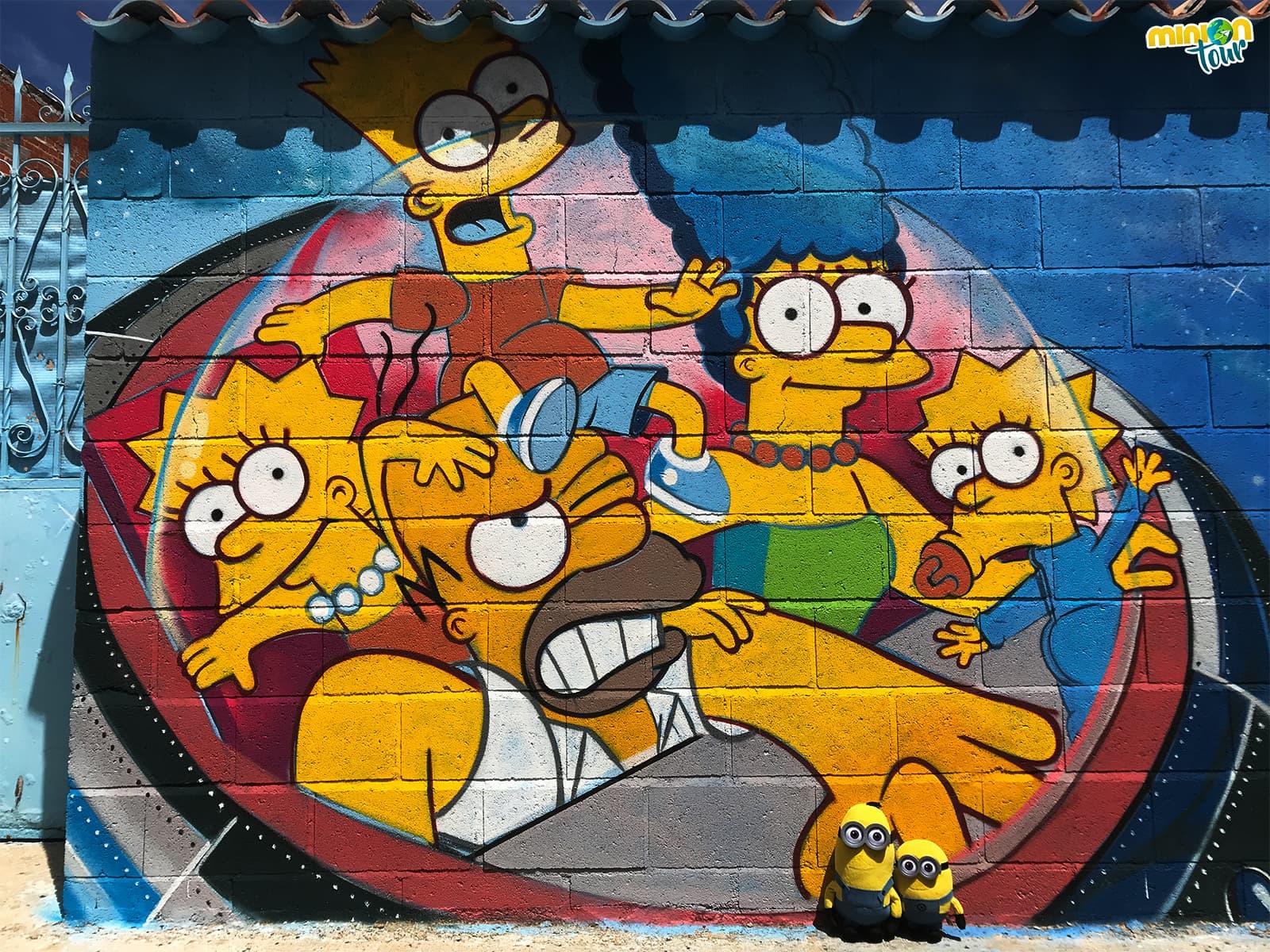 2 Minions con Los Simpsons