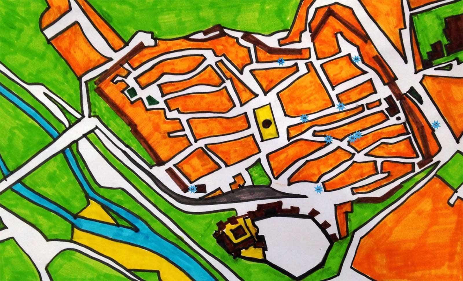 Mapa de la Ruta de los Murales de Escalona
