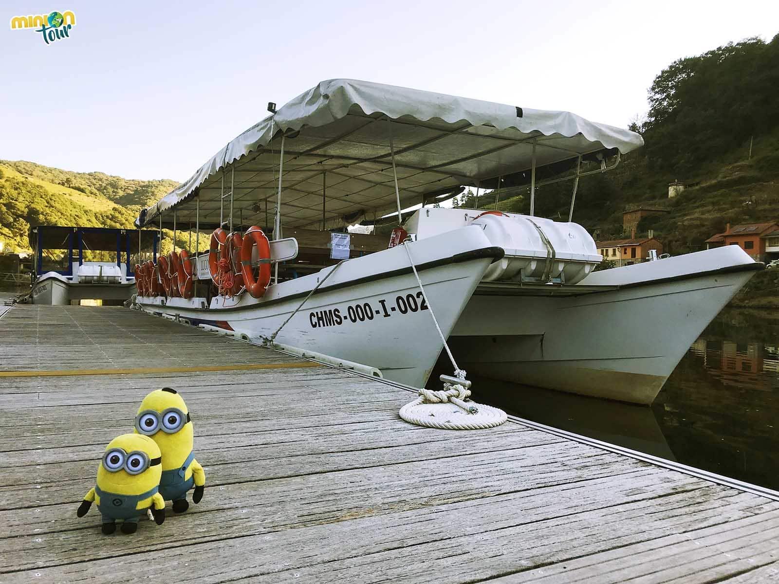 Uno de los catamaranes