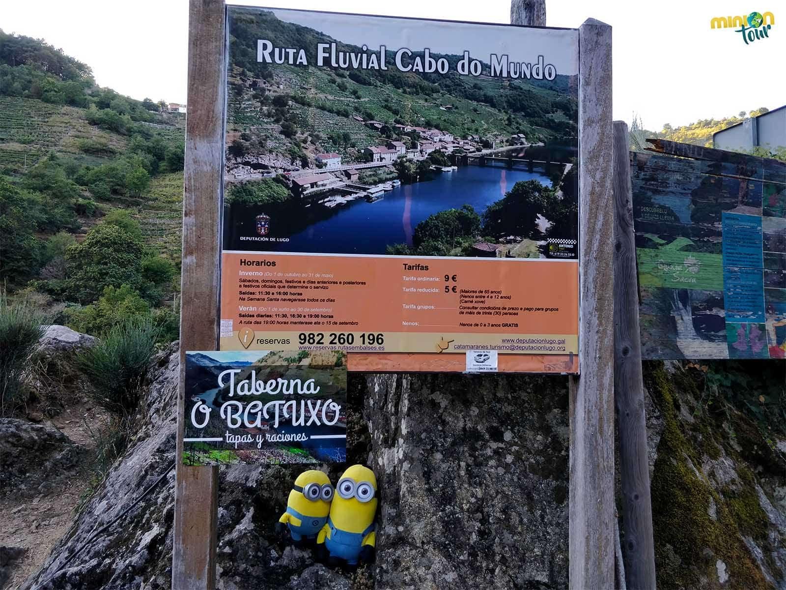 Desde Belesar puedes hacer la ruta fluvial Cabo do Mundo