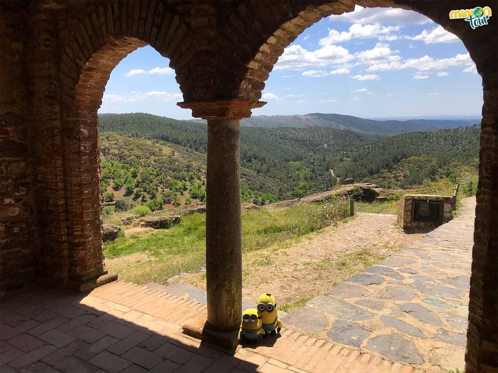 Vistas desde la mezquita de Almonaster la Real