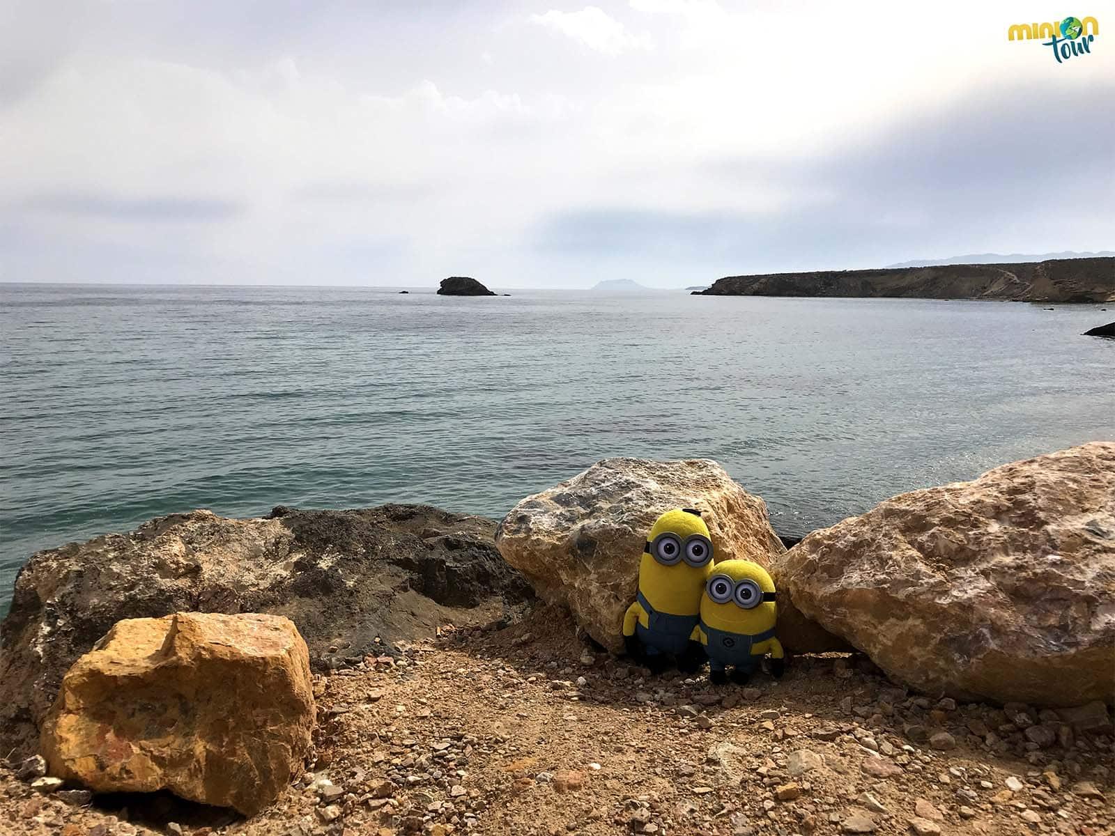2 Minions la con isla de la Cueva de Lobos al fondo