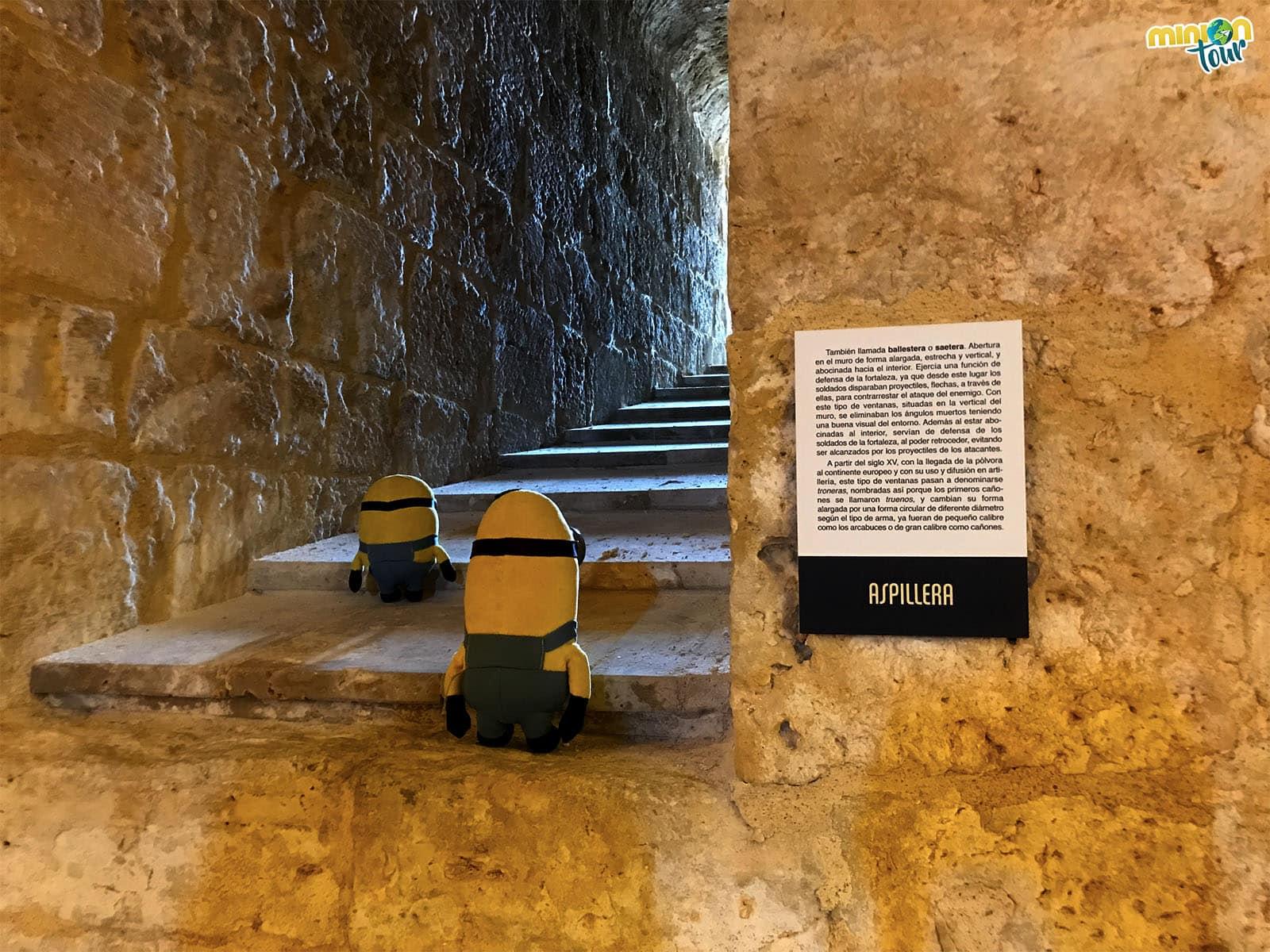 Una de las aspilleras del castillo