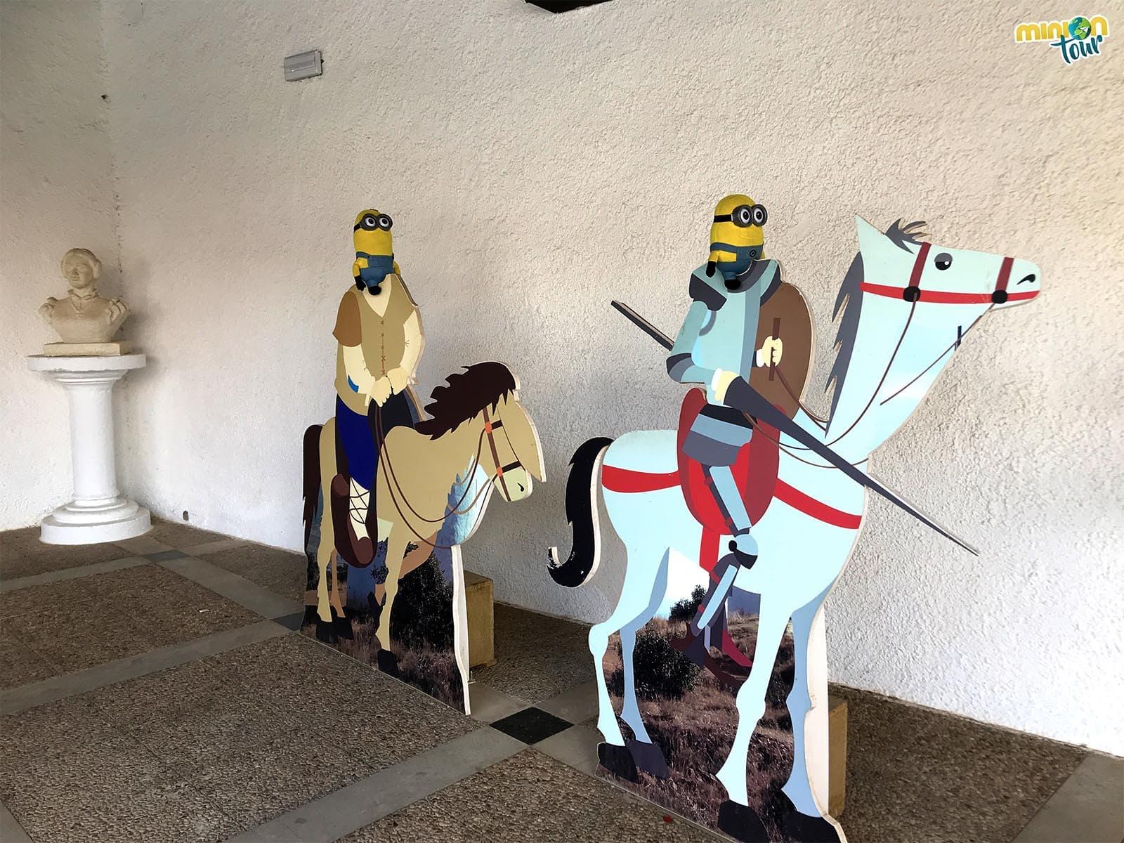 2 Minions haciendo de don Quijote y Sancho Panza