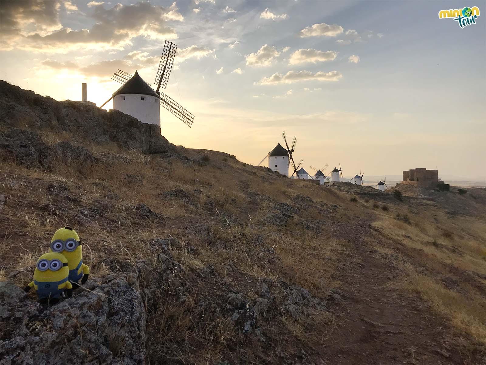 Los molinos de Consuegra y el castillo