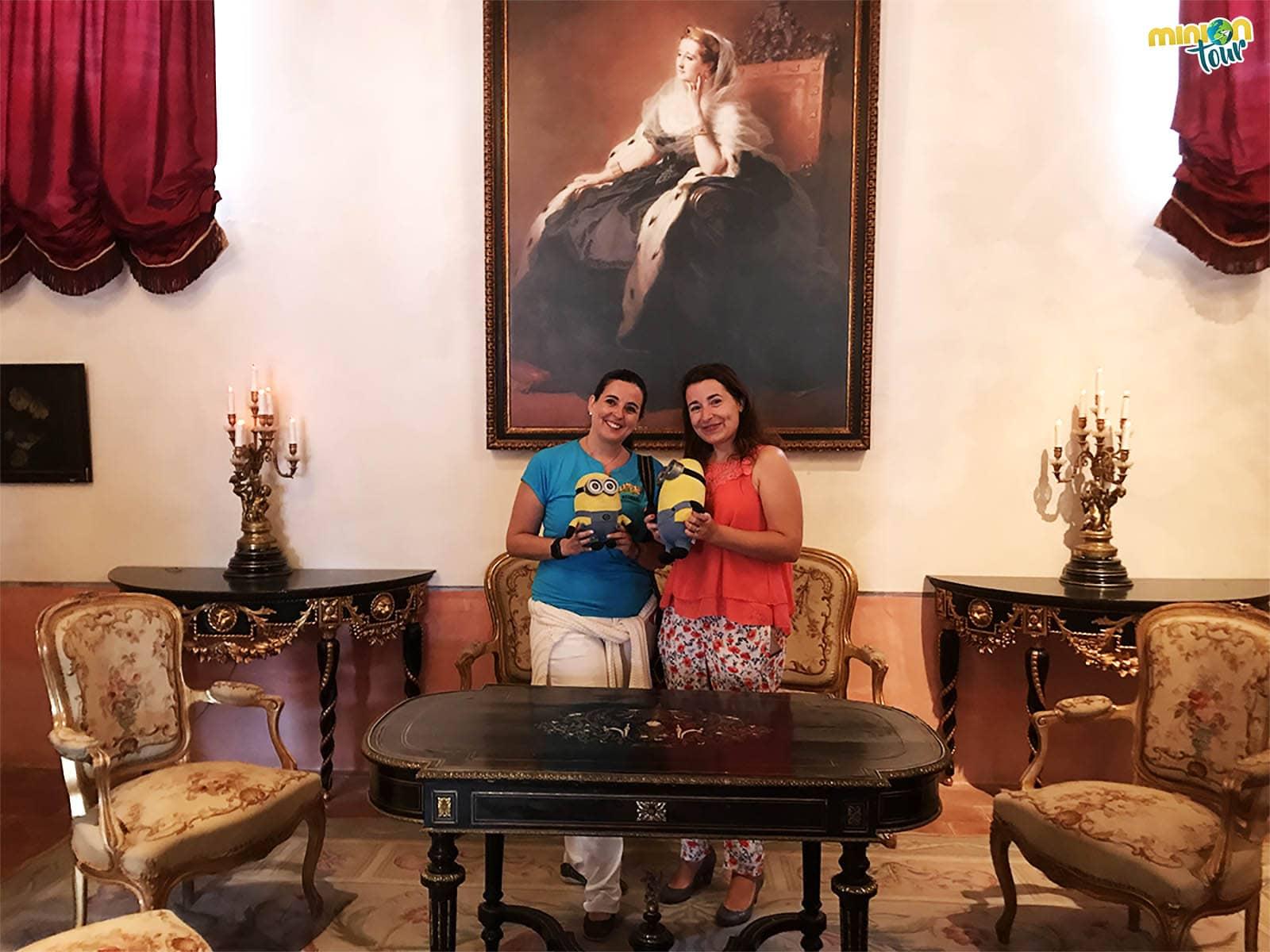 Con María José y Lourdes en el Castillo de Belmonte