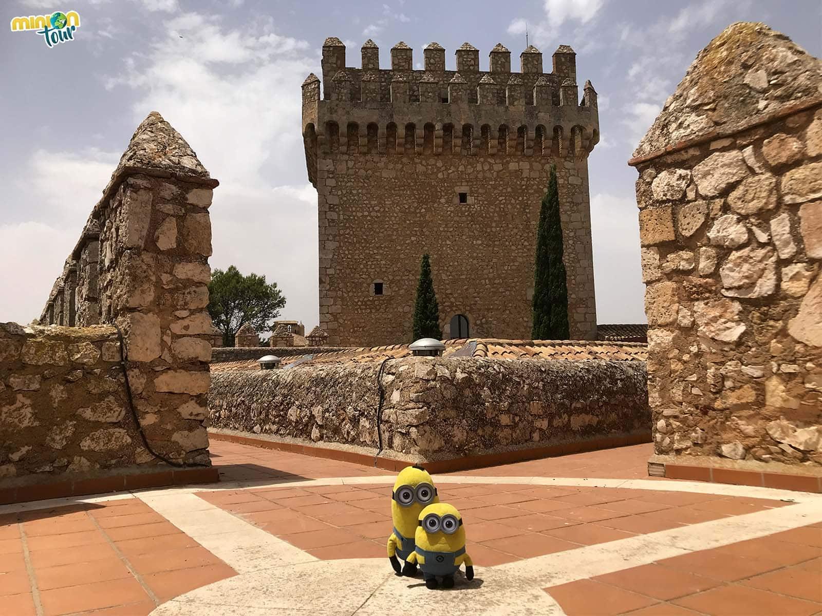 En la parte superior del Castillo de Alarcón