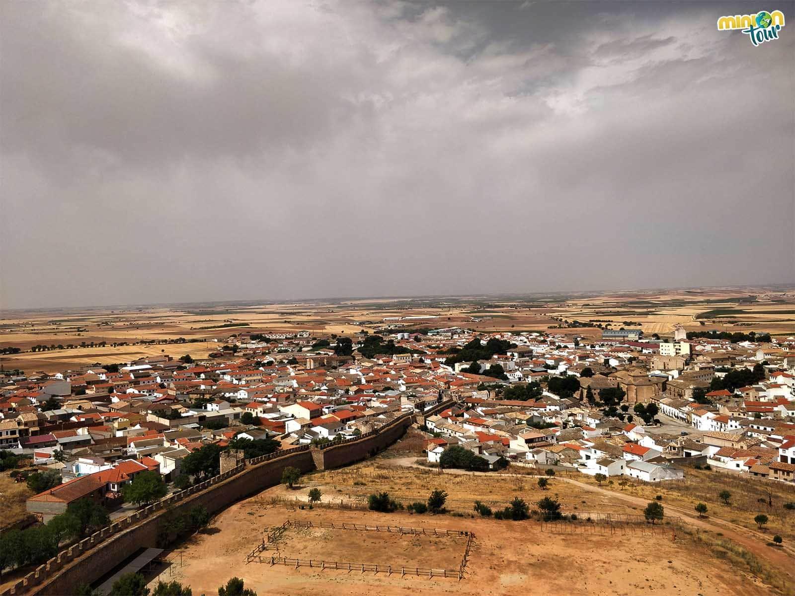 Vistas de Belmonte desde lo alto del castillo