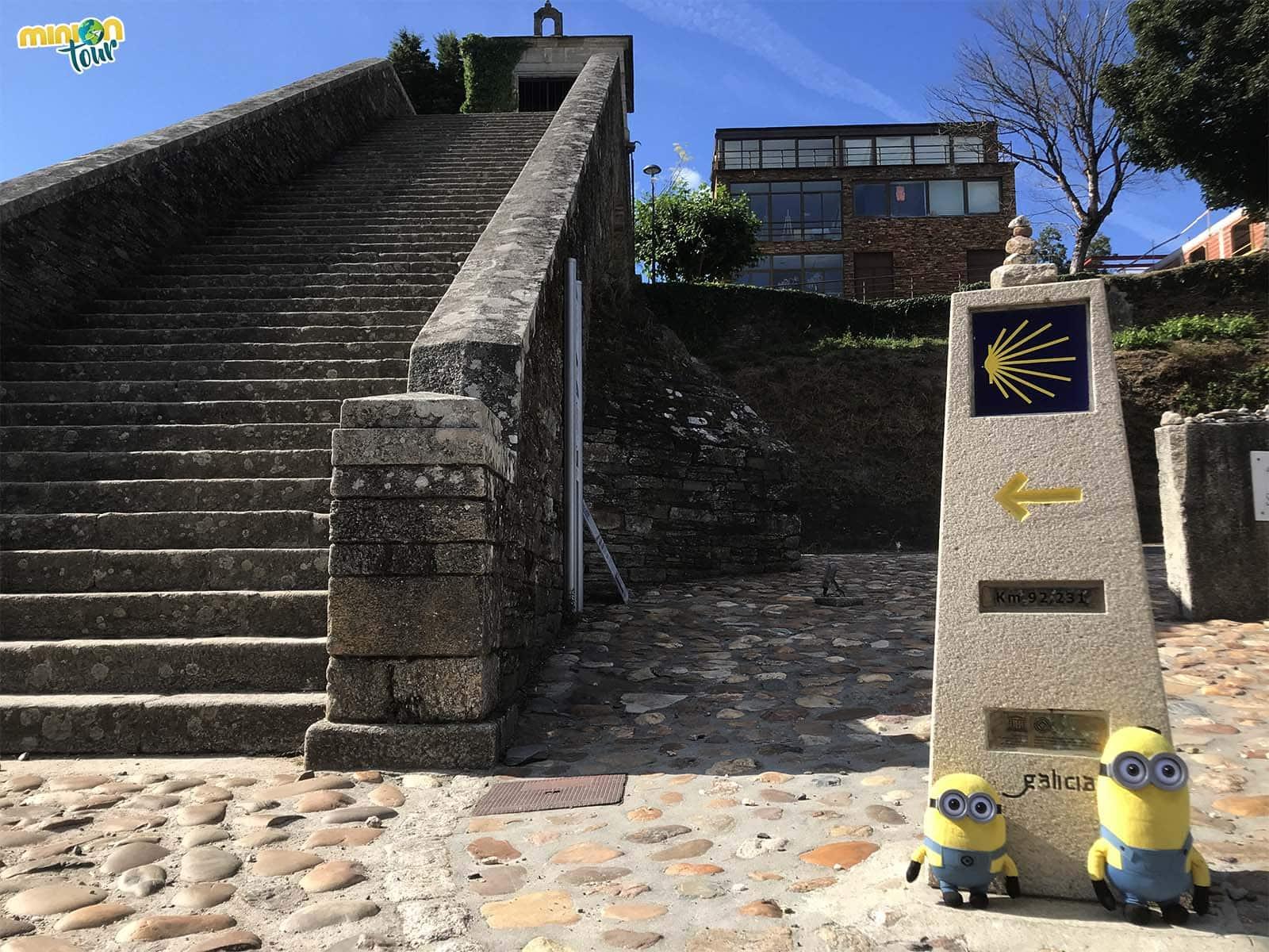 Escalinata de la Capillas de las Nieves, una de los lugares que tienes que ver en Portomarín