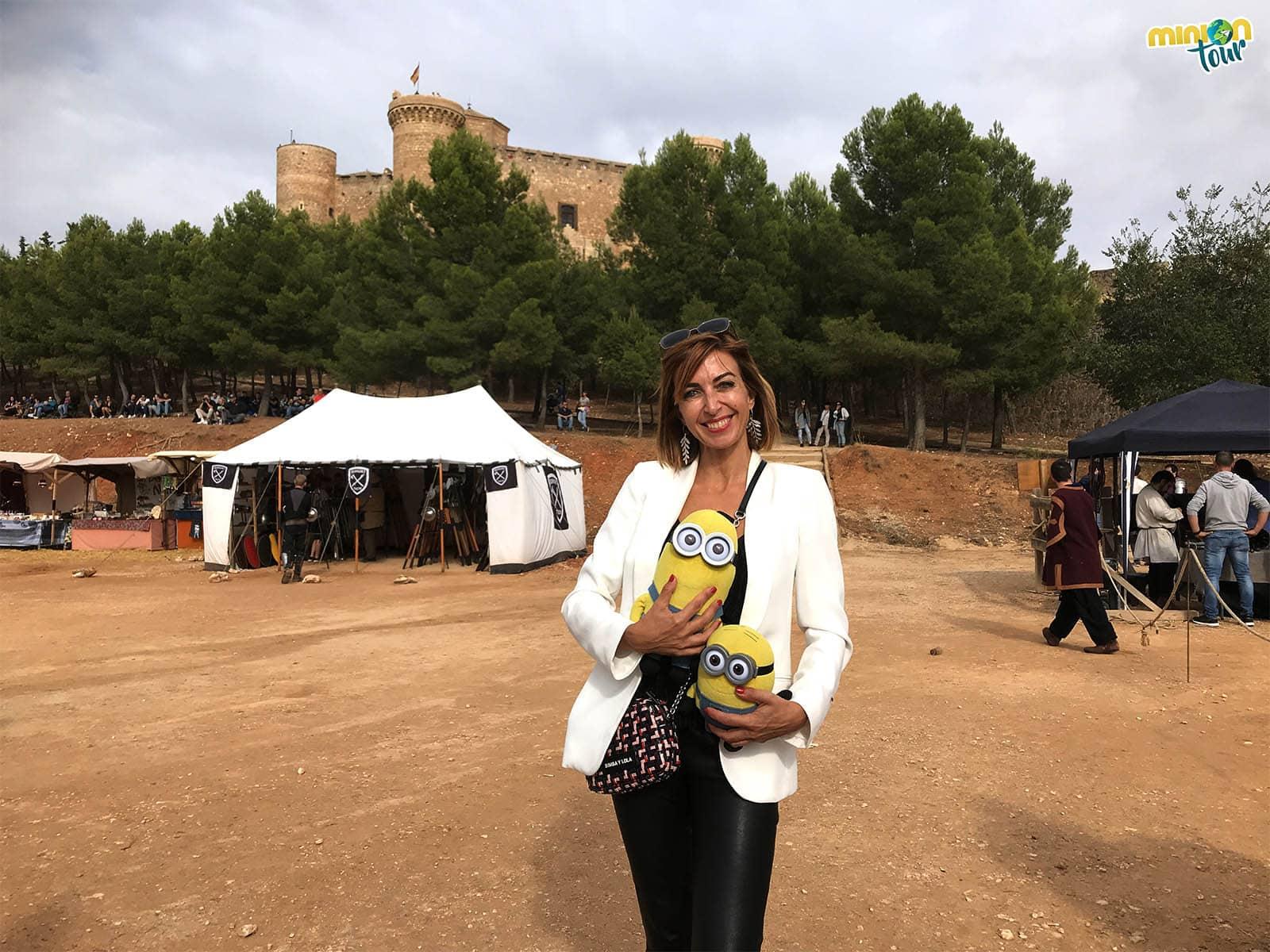 Con Mariló Montero en el Combate Medieval de Belmonte
