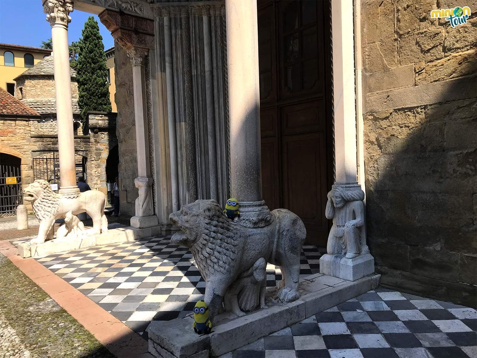 Con los leones de la Basílica de Santa María Maggiore