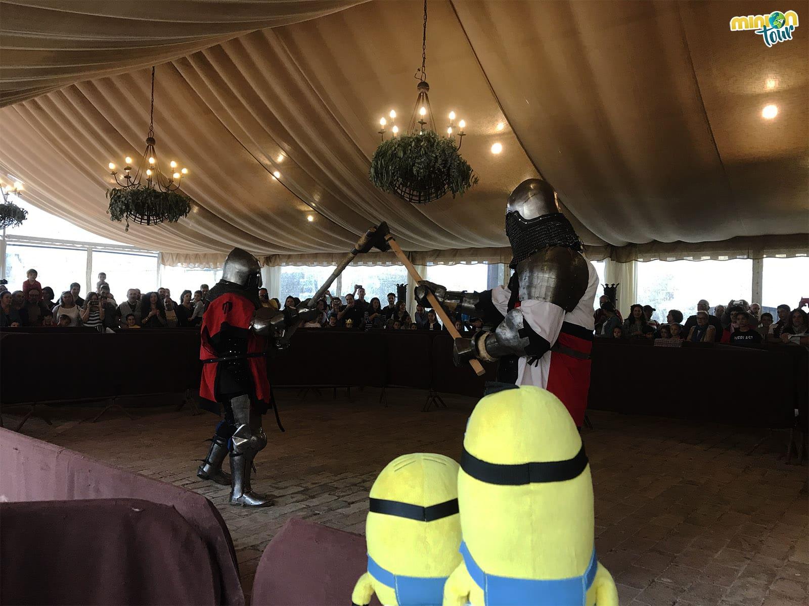 Observando un combate medieval