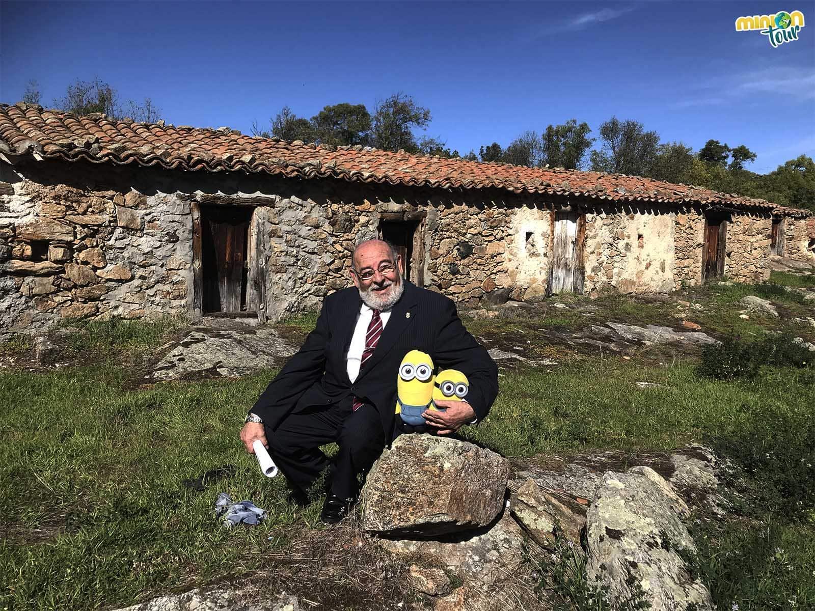 Con el alcalde de Gargantilla del Lozoya y Pinilla de Buitrago