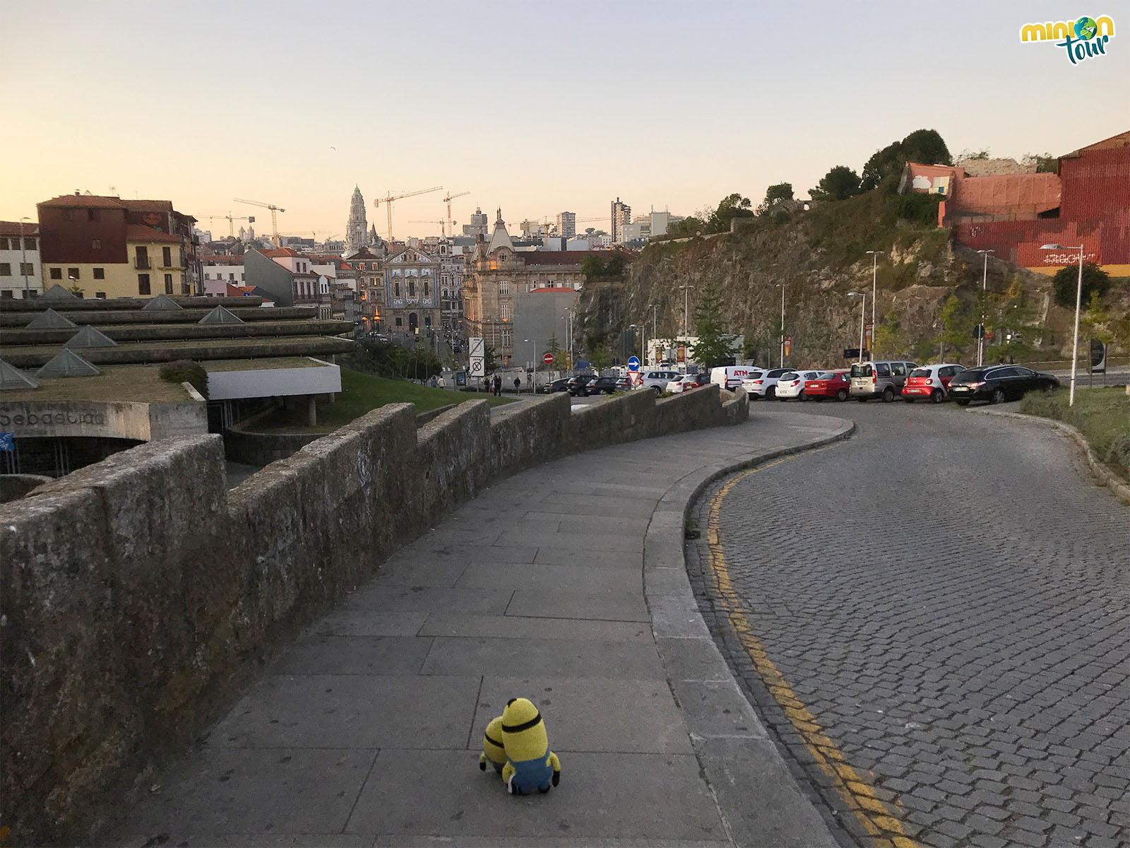Vista de Oporto desde cerca de la catedral
