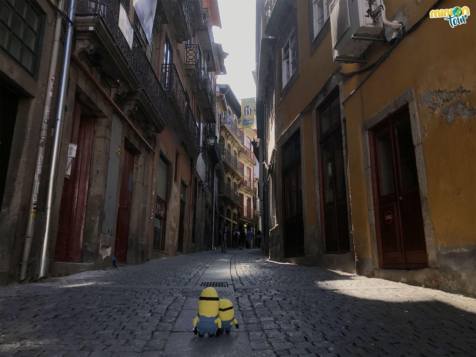 Calle de la ribera de Oporto