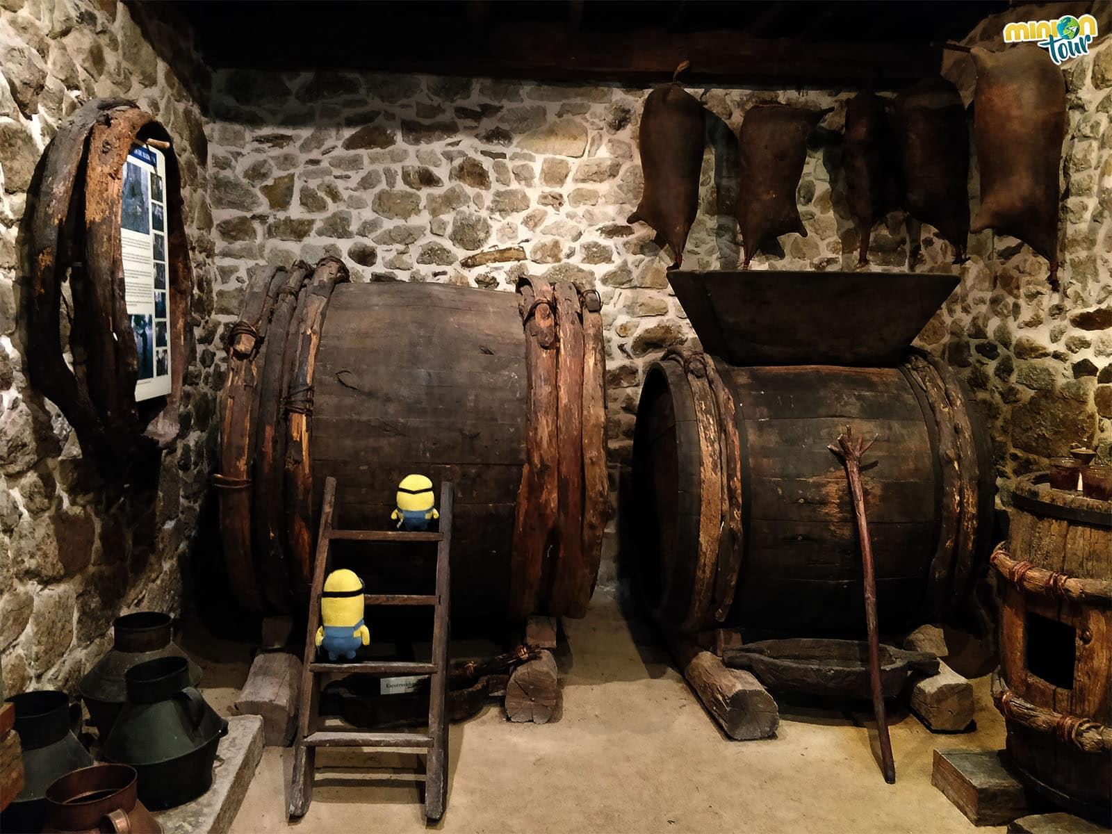 Recreación de bodega en el Ecomuseo y Pazo de Arxeriz