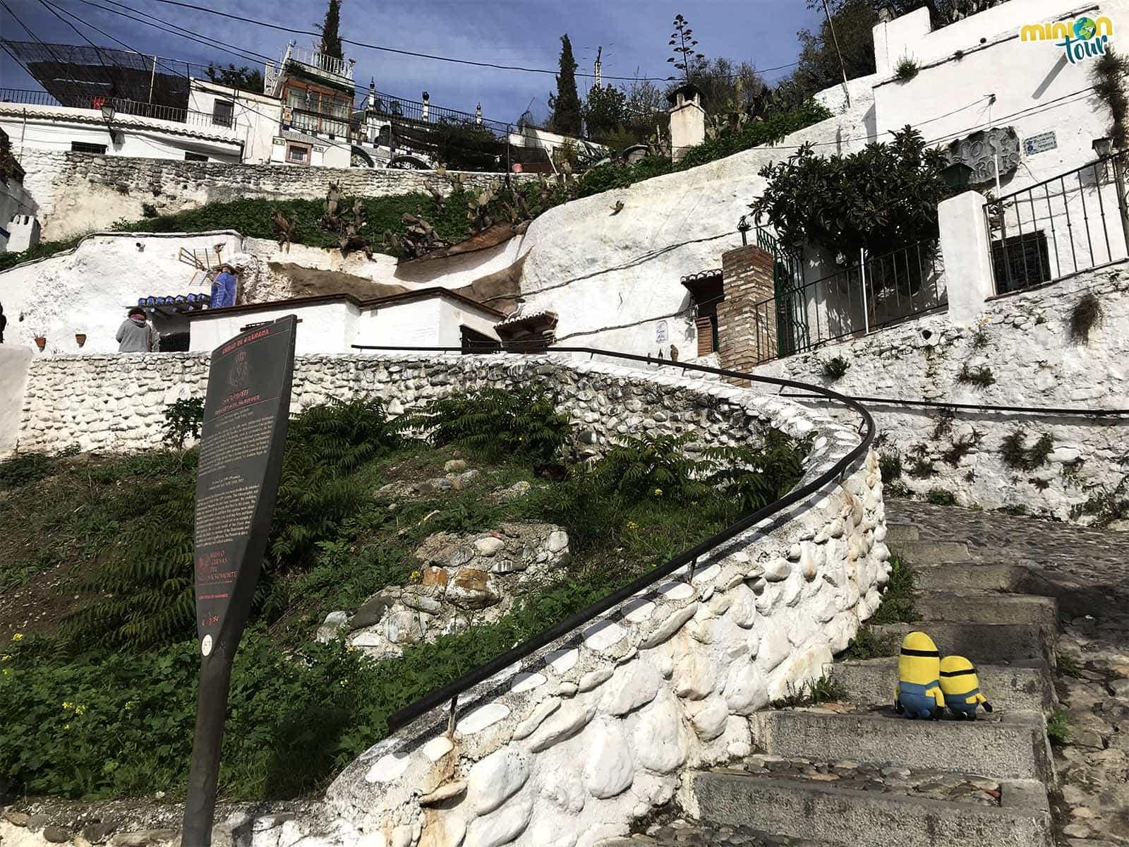 2 Minions en el Barrio del Sacromonte en Granada