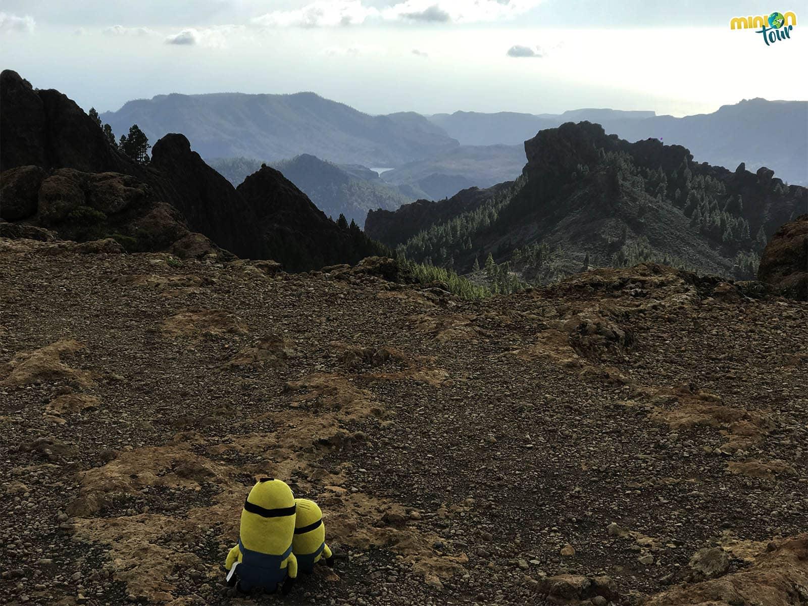 Paisajes desde cerca del Roque Nuble