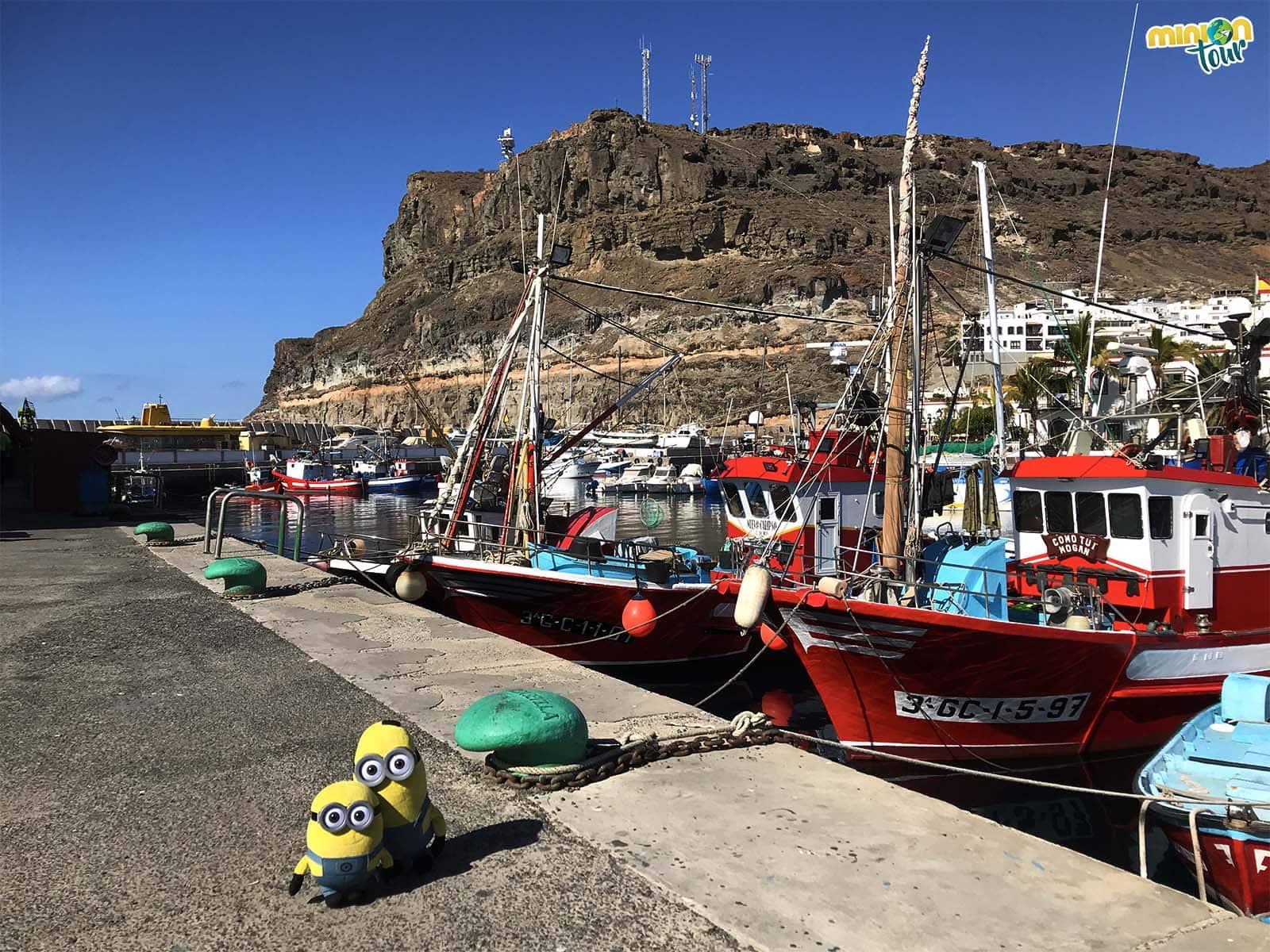 Barcos pesqueros en Puerto de Mogán
