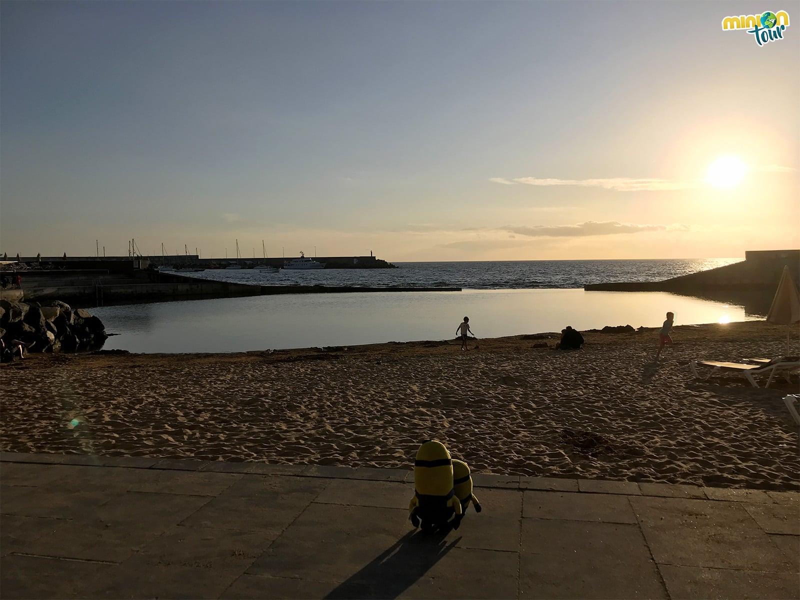 Puesta de sol en Arguineguín