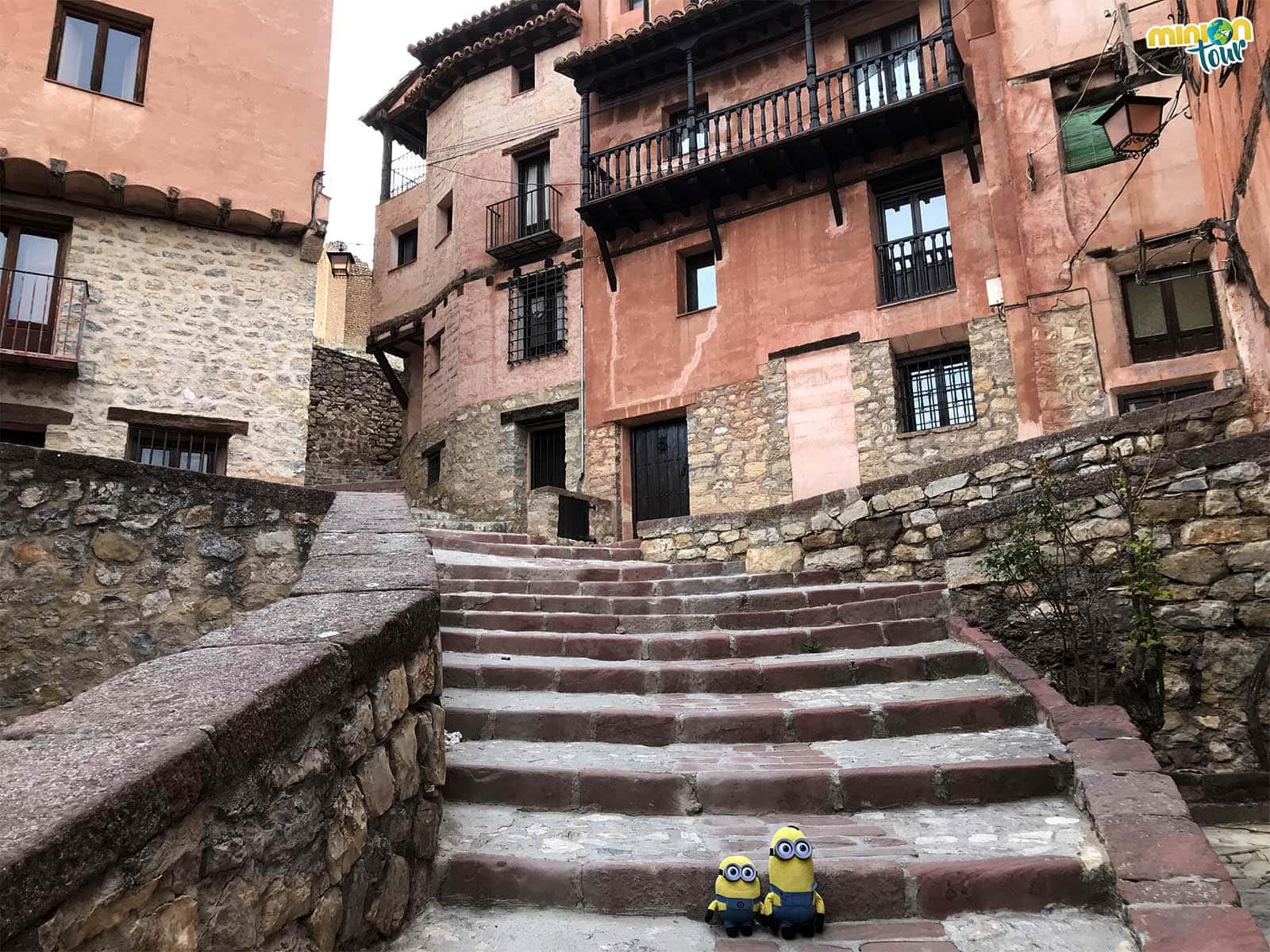 Escaleras de calles de Albarracín