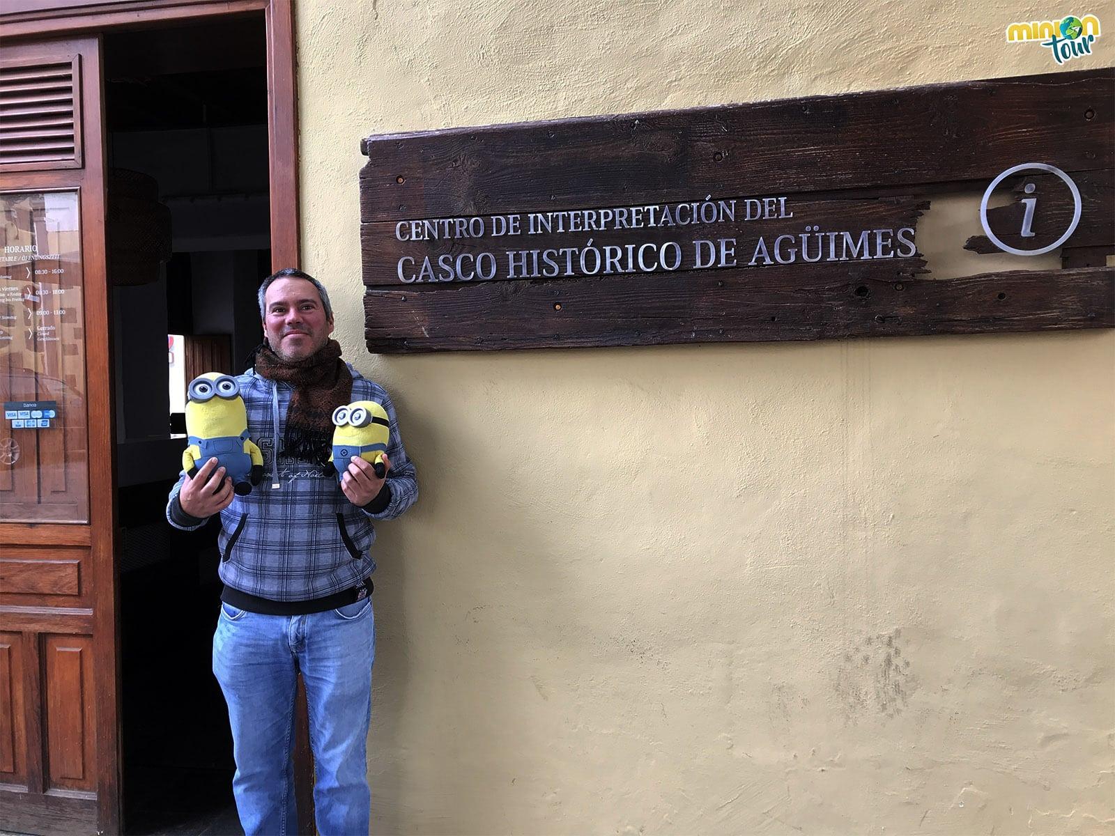 Con José Alberto en la Oficina de Turismo de Agüimes