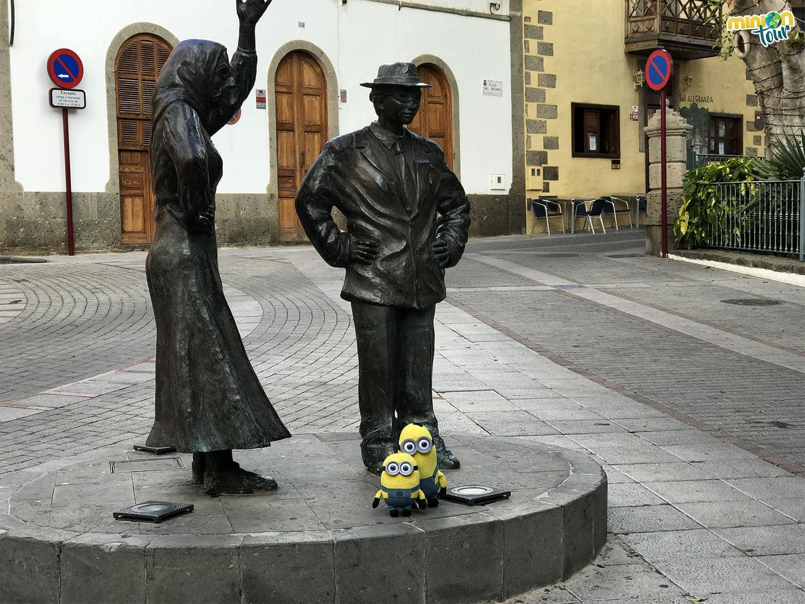 Una escultura en honor al Carnaval