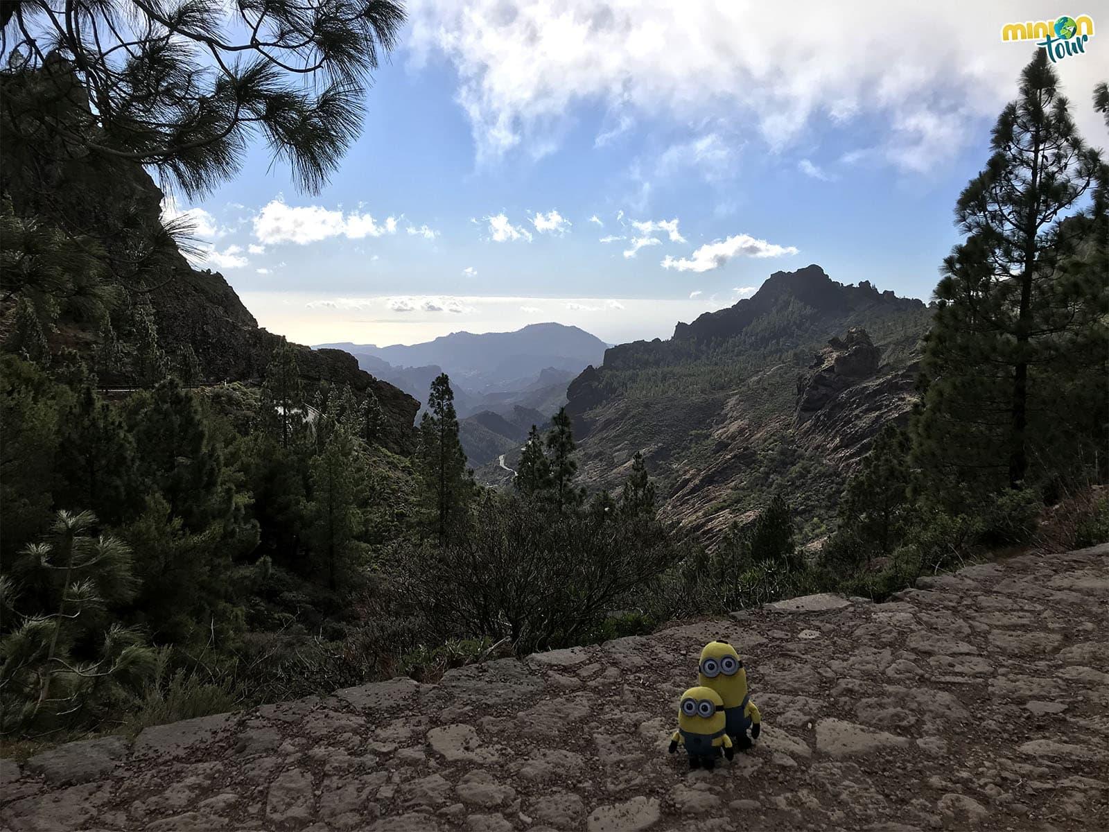 Paisaje desde el sendero hacia el Roque Nublo