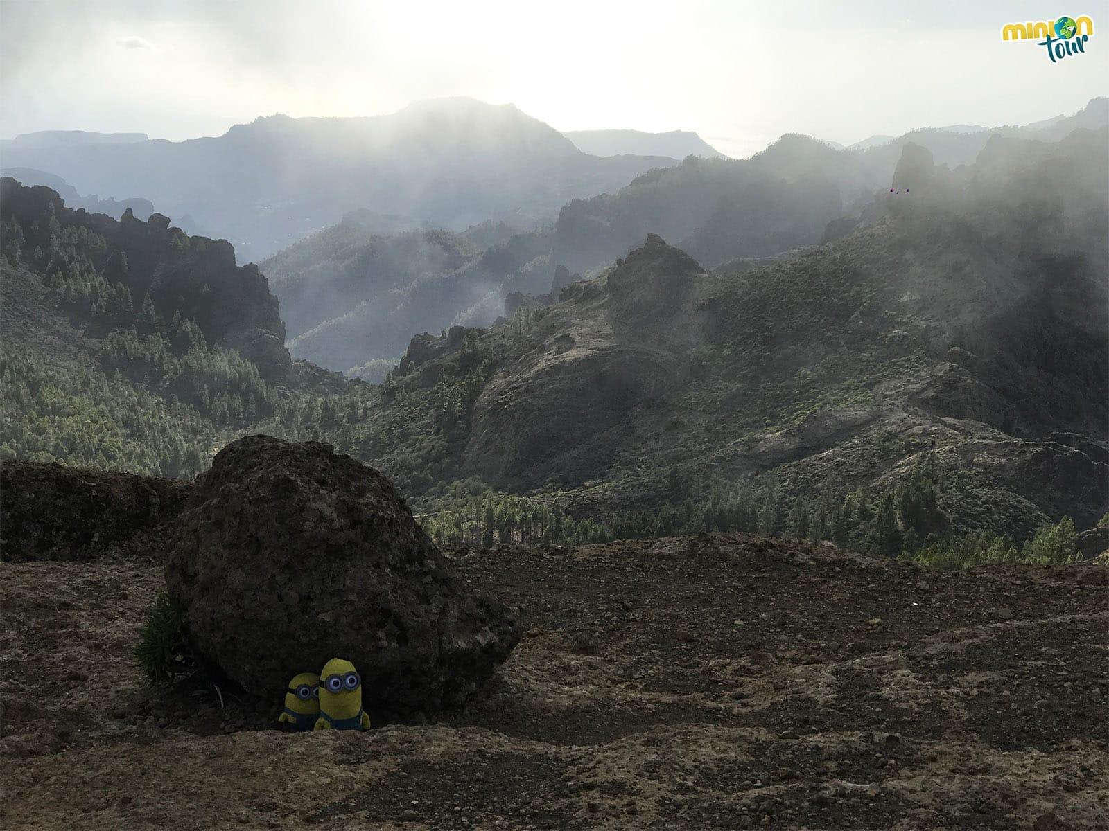 Vistas desde el sendero al Roque Nublo