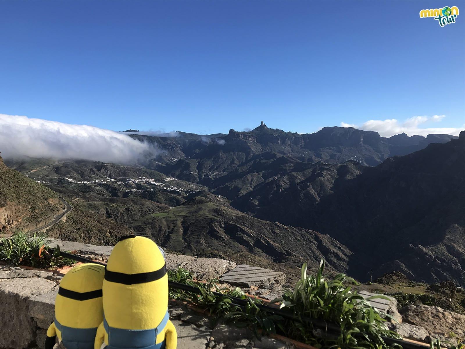 El Roque Nublo visto desde Artenara. Guía de Viaje a Gran Canaria
