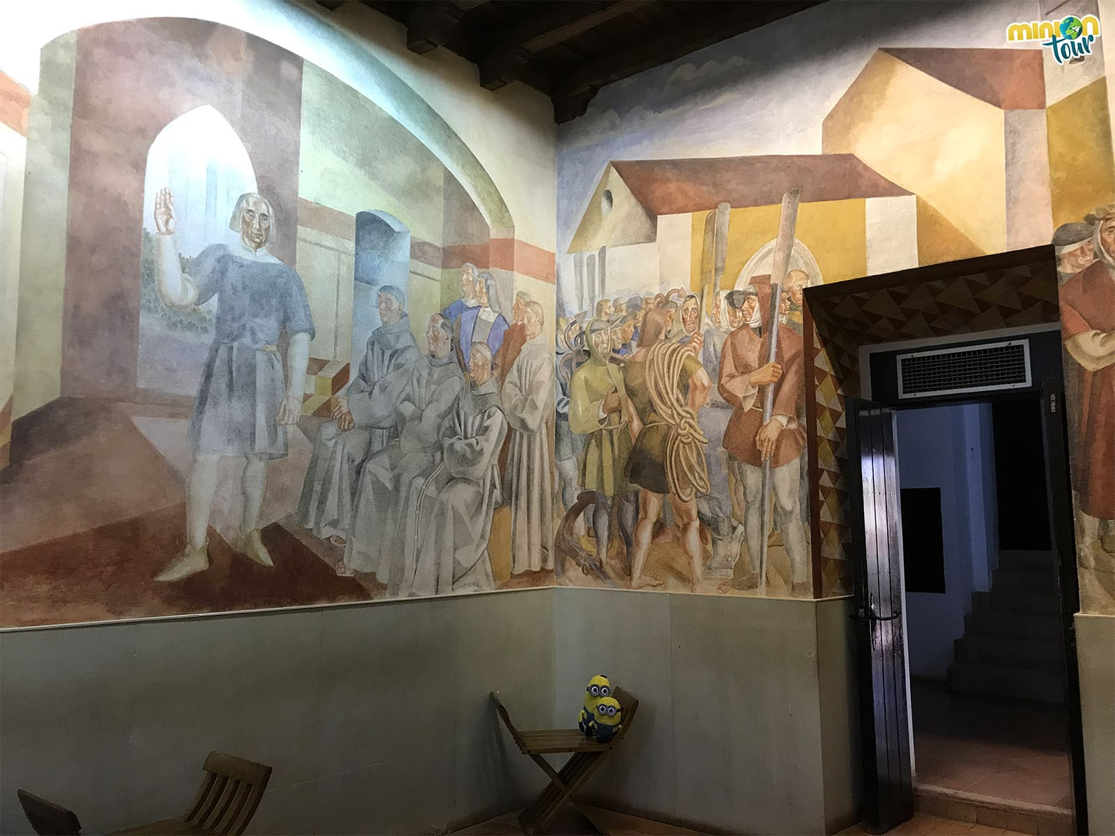 Paredes pintadas en el Monasterio de La Rábida