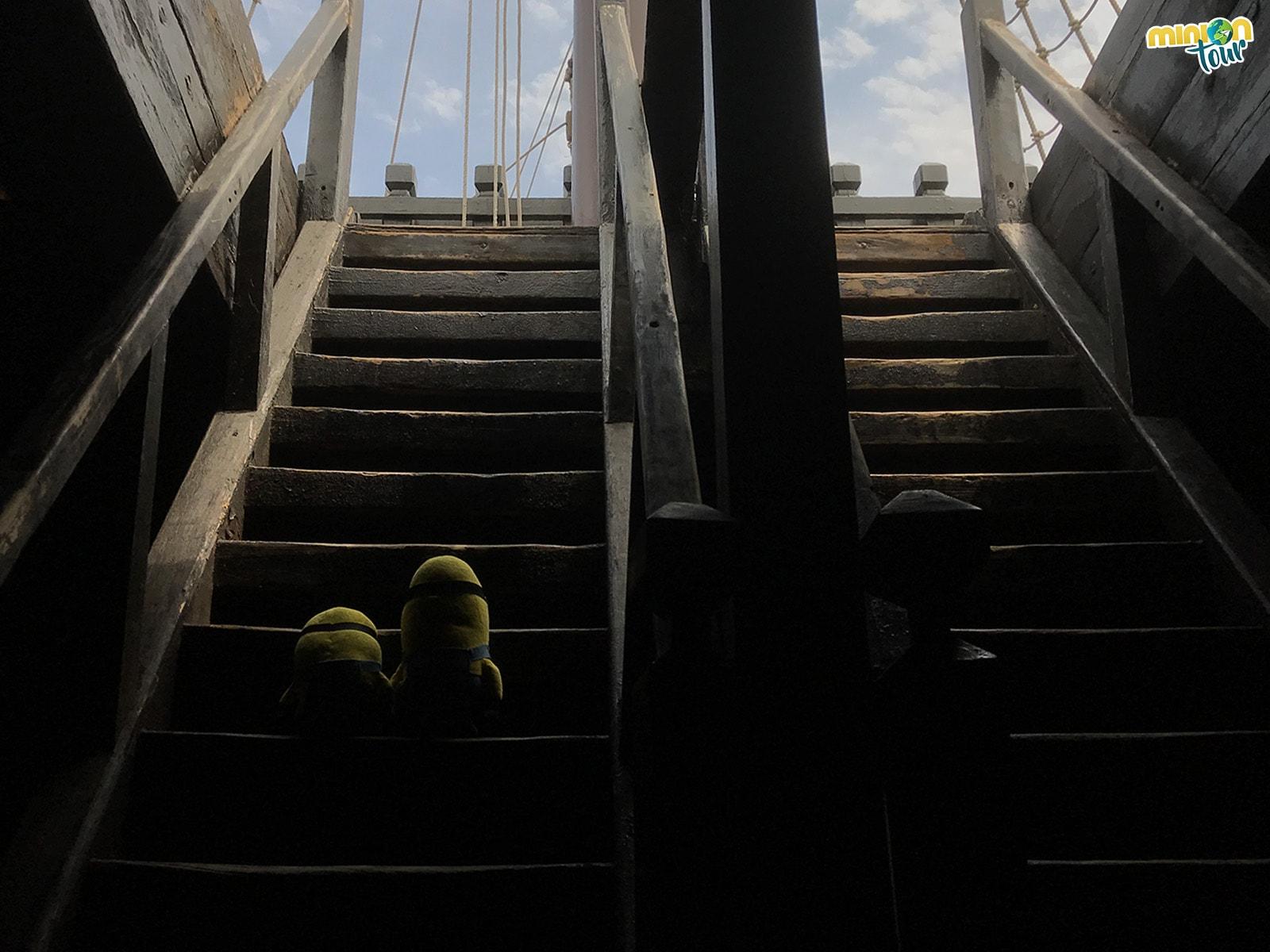 Subiendo a la cubierta