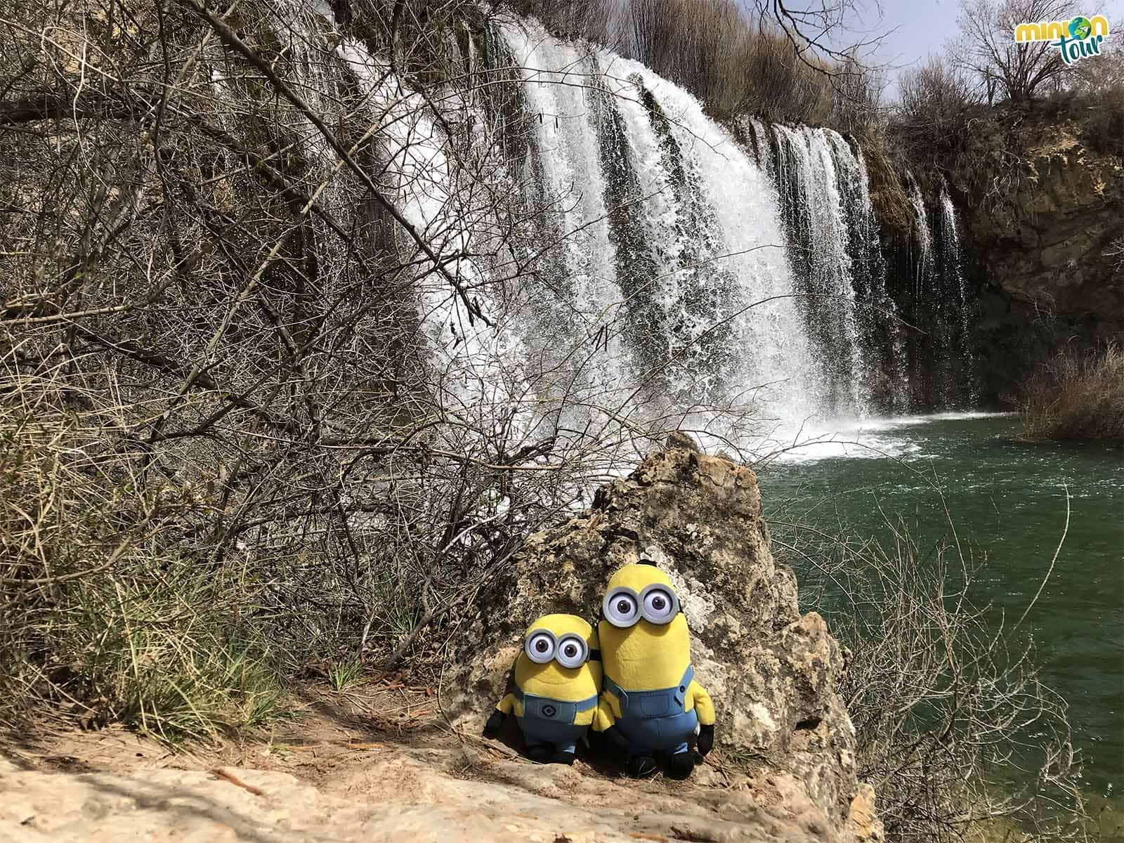 Una cascada impresionante en la provincia de Teruel