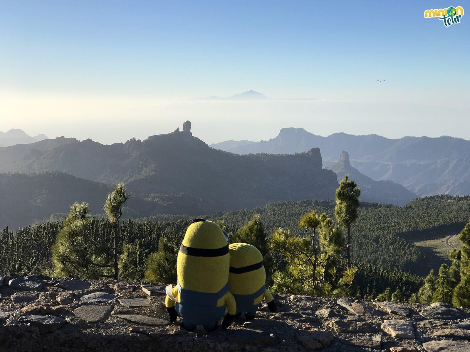 Minions en el Mirador del Pico del Pozo de las Nieves