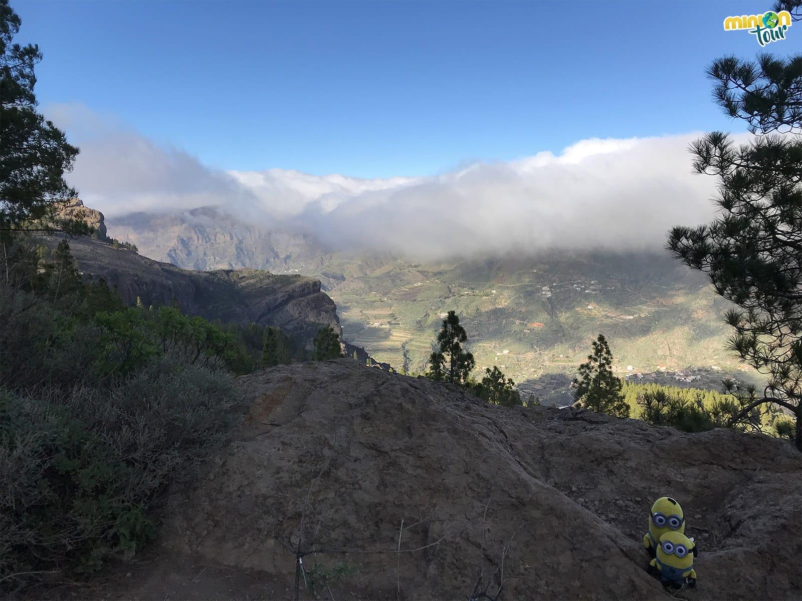 La niebla se mueve muy rápido aquí arriba