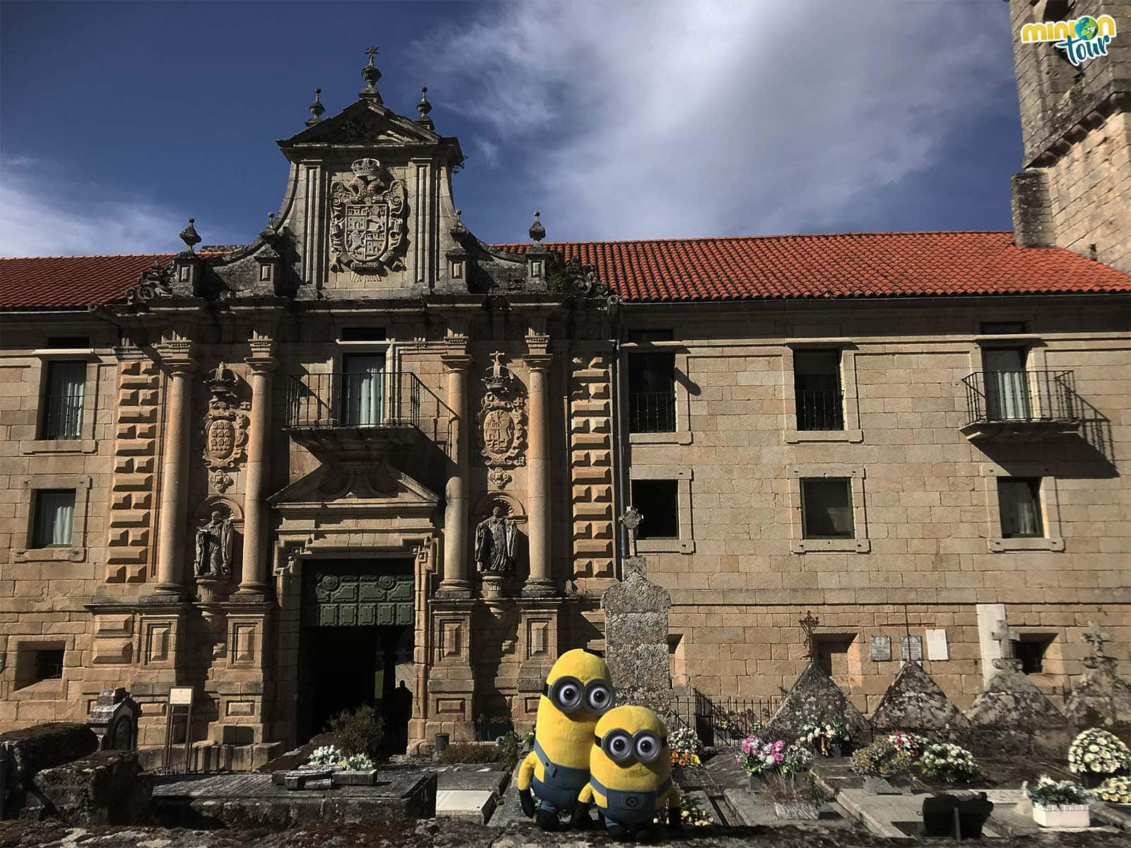 Portada del Monasterio de Santo Estevo de Ribas de Sil