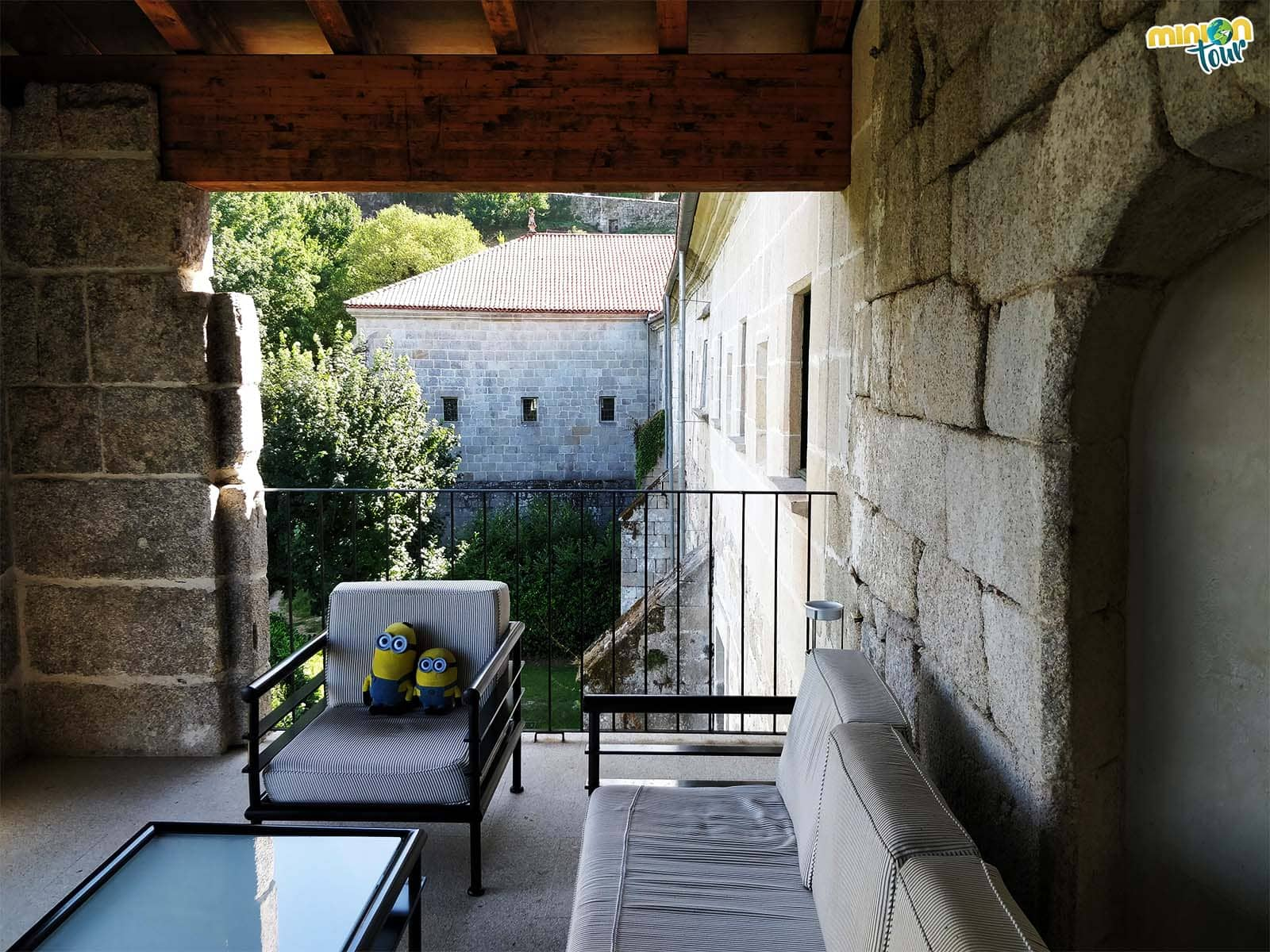 Una de las terrazas del monasterio