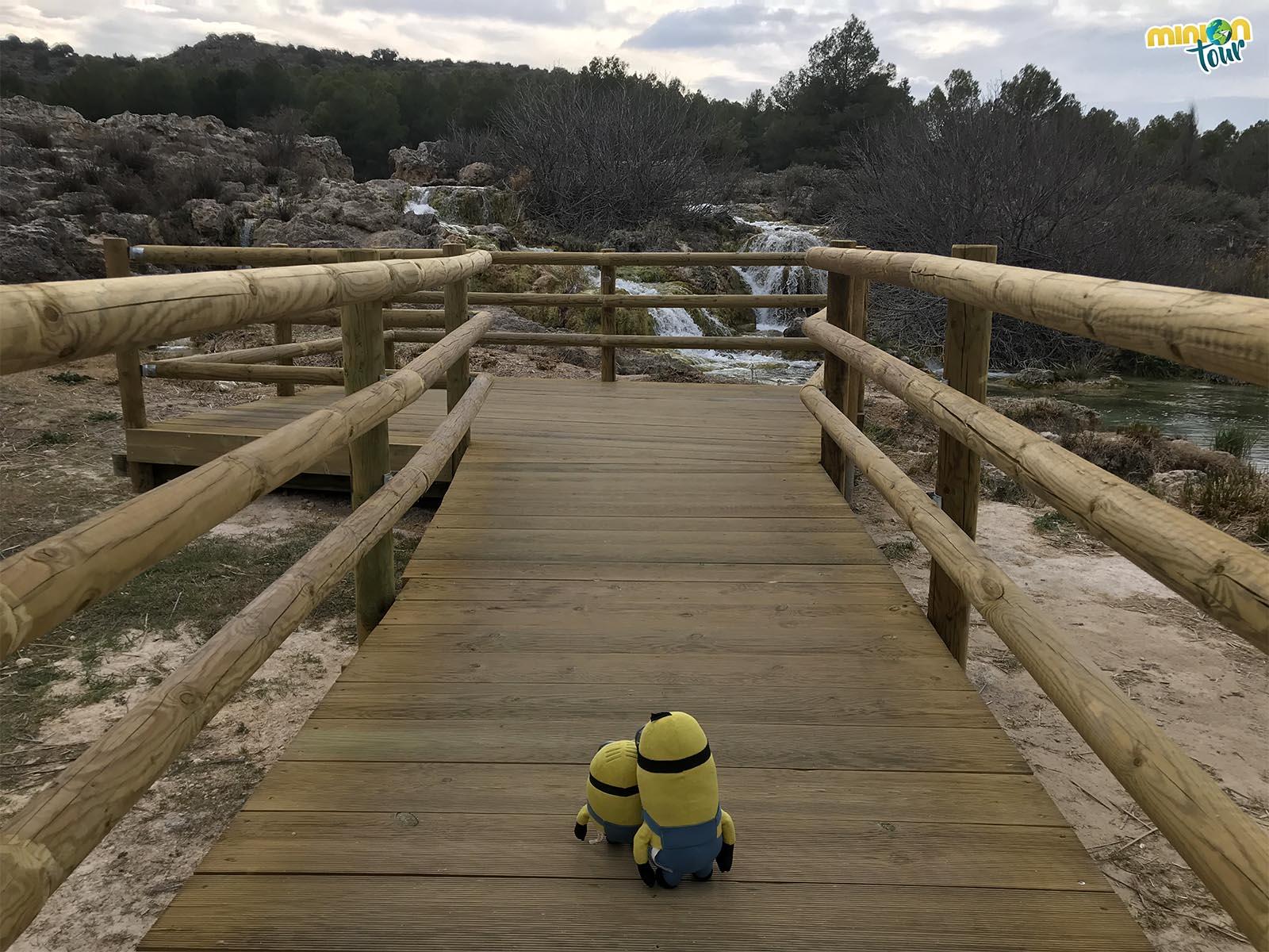Pasarela hacia la cascada de la Laguna Salvadora