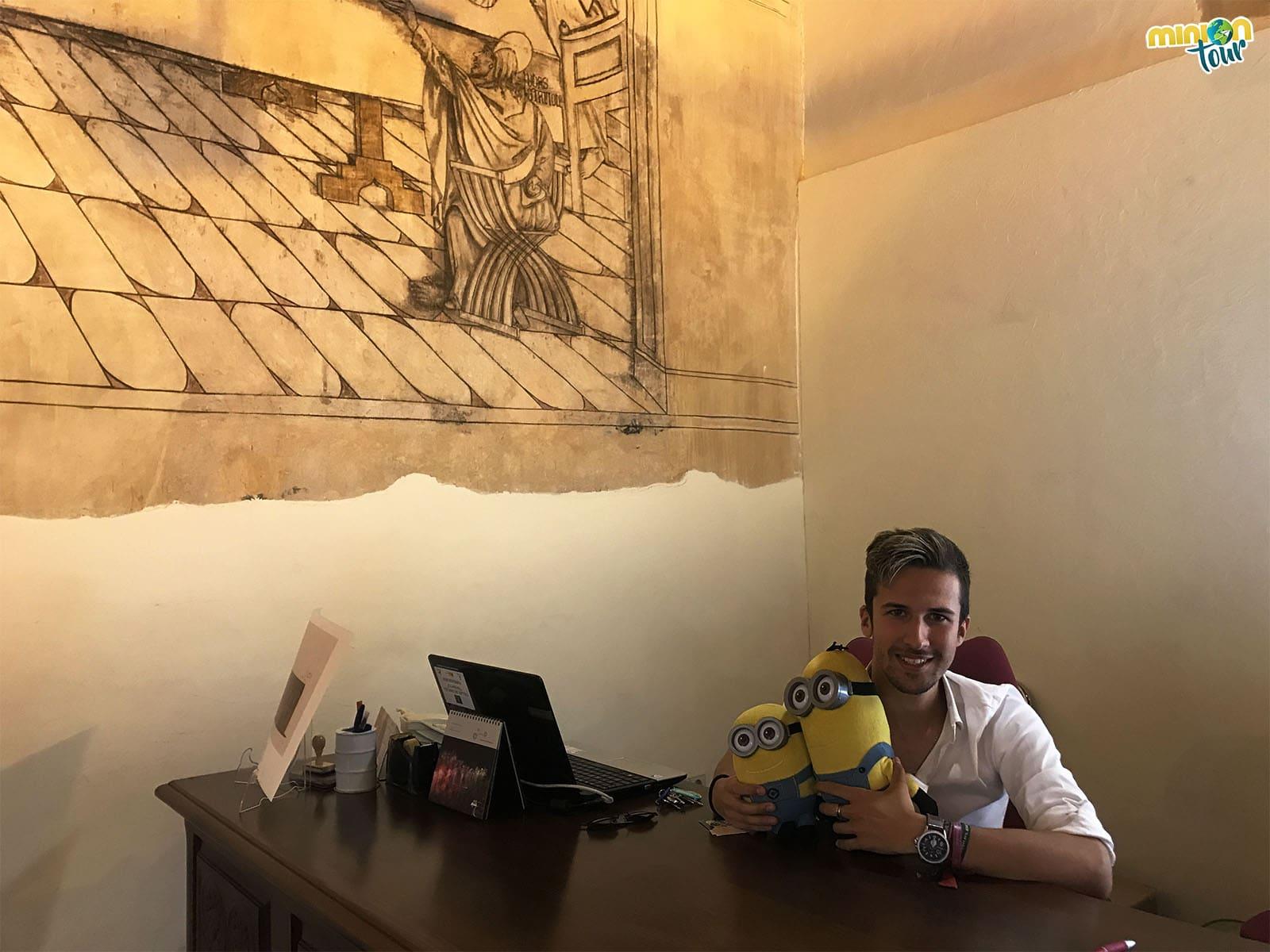 Con Sergio en la Oficina de Turismo de Torrijos