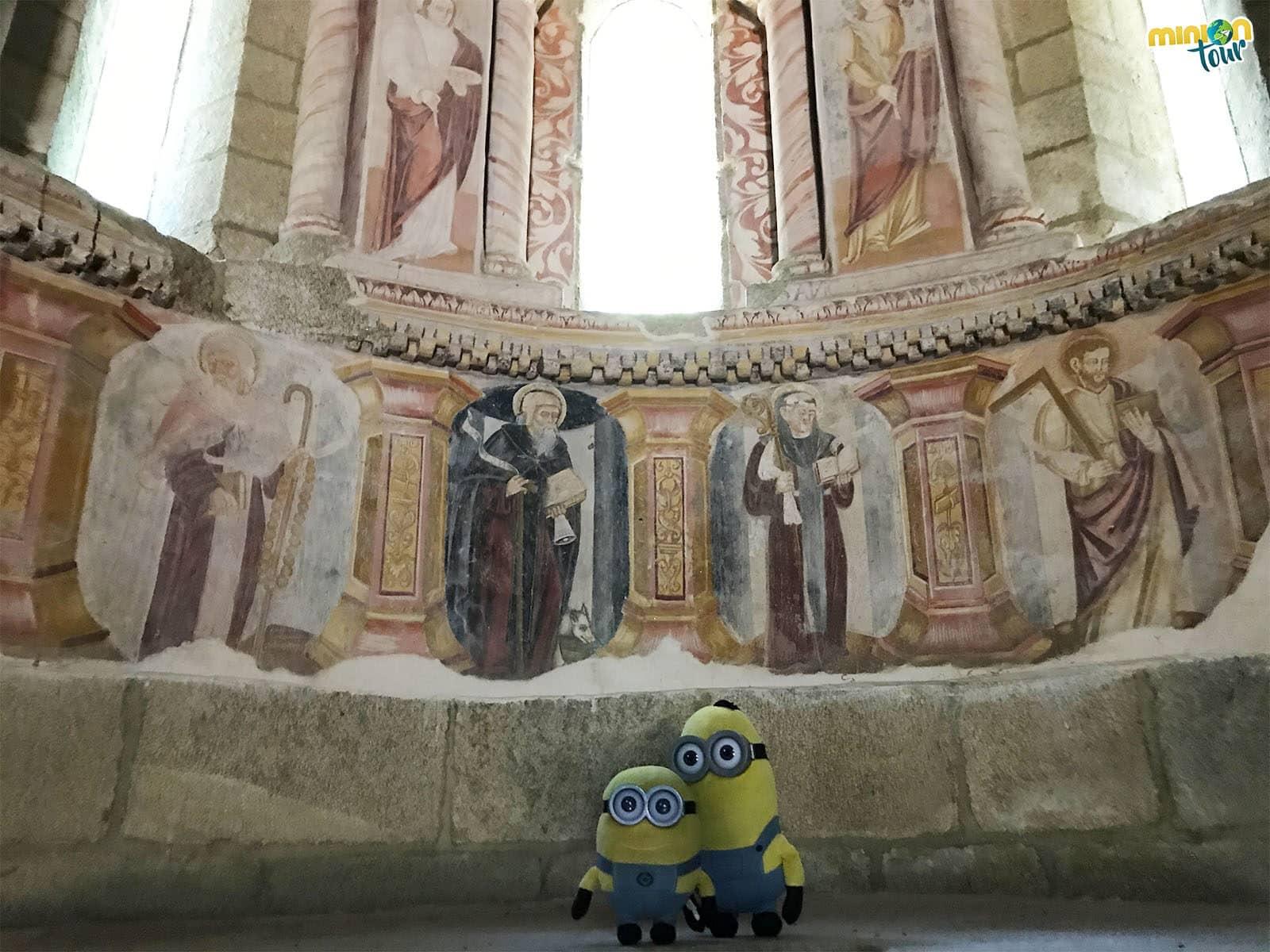 Alucinando con las pinturas murales del Monasterio de Santa Cristina de Ribas de Sil