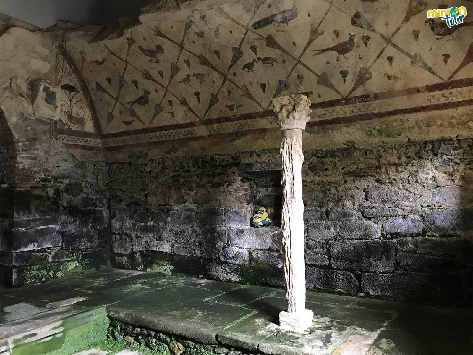 Estamos estudiando las pinturas murales de Santa Eulalia de Bóveda